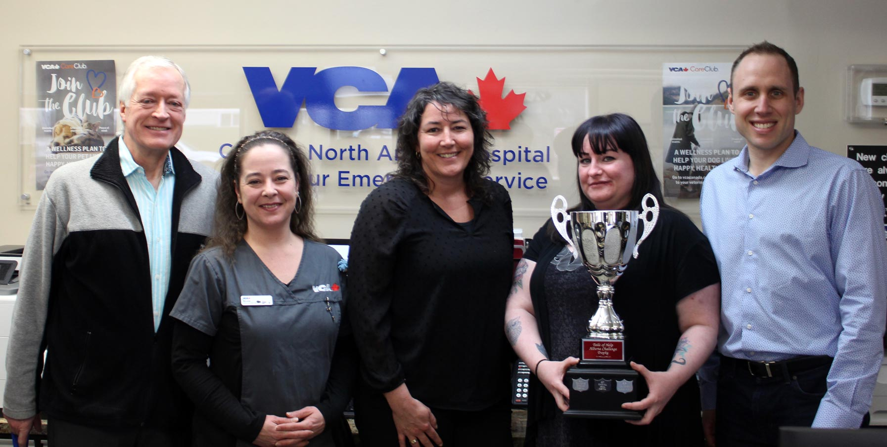2018 Alberta challenge trophy presentation to winners: VCA canada calgary north animal hospital
