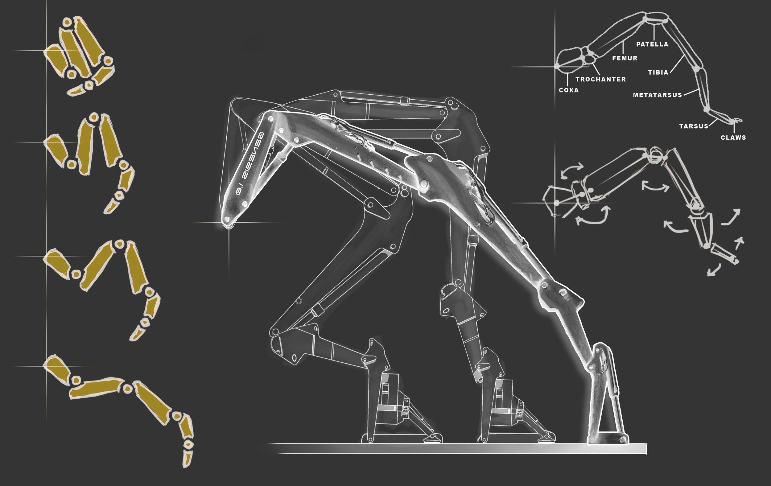 Figure 17. Mechanical leg struts.