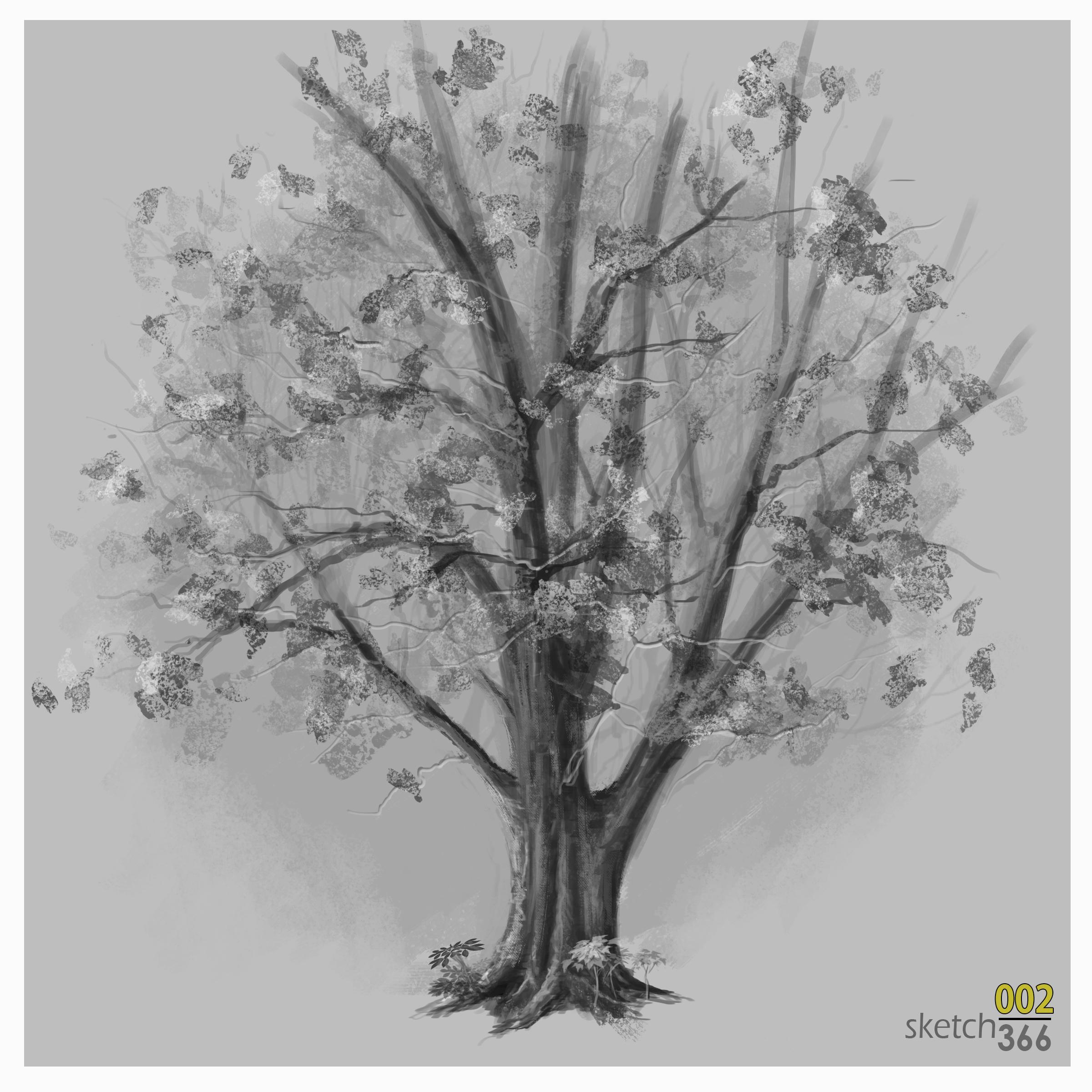 Tree - digital paint