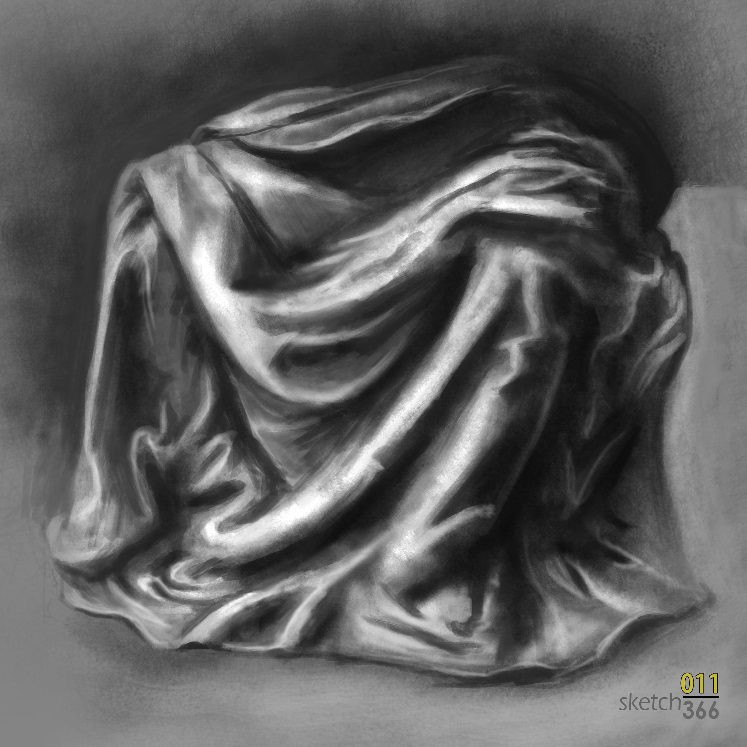 DaVinci garmet study - master study - digital paint