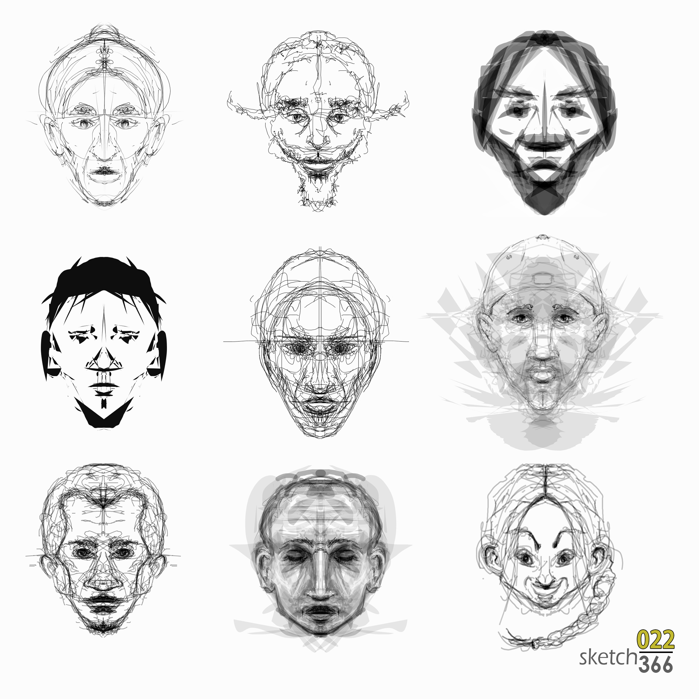 alchemy - quick sketch faces
