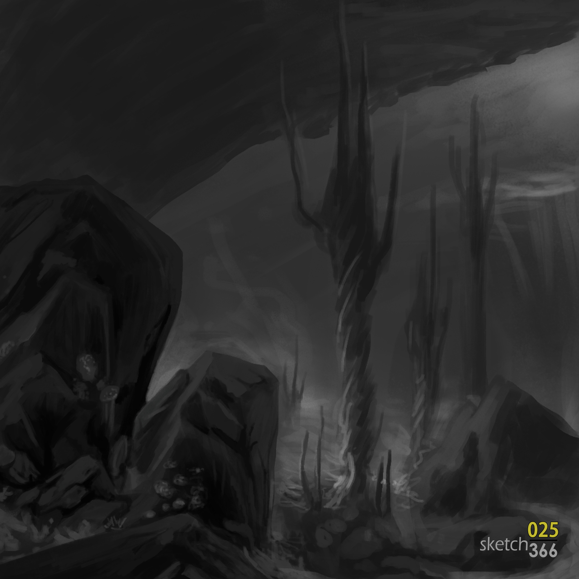 Noah Bradley (teach me the angel's song) - master study (value)