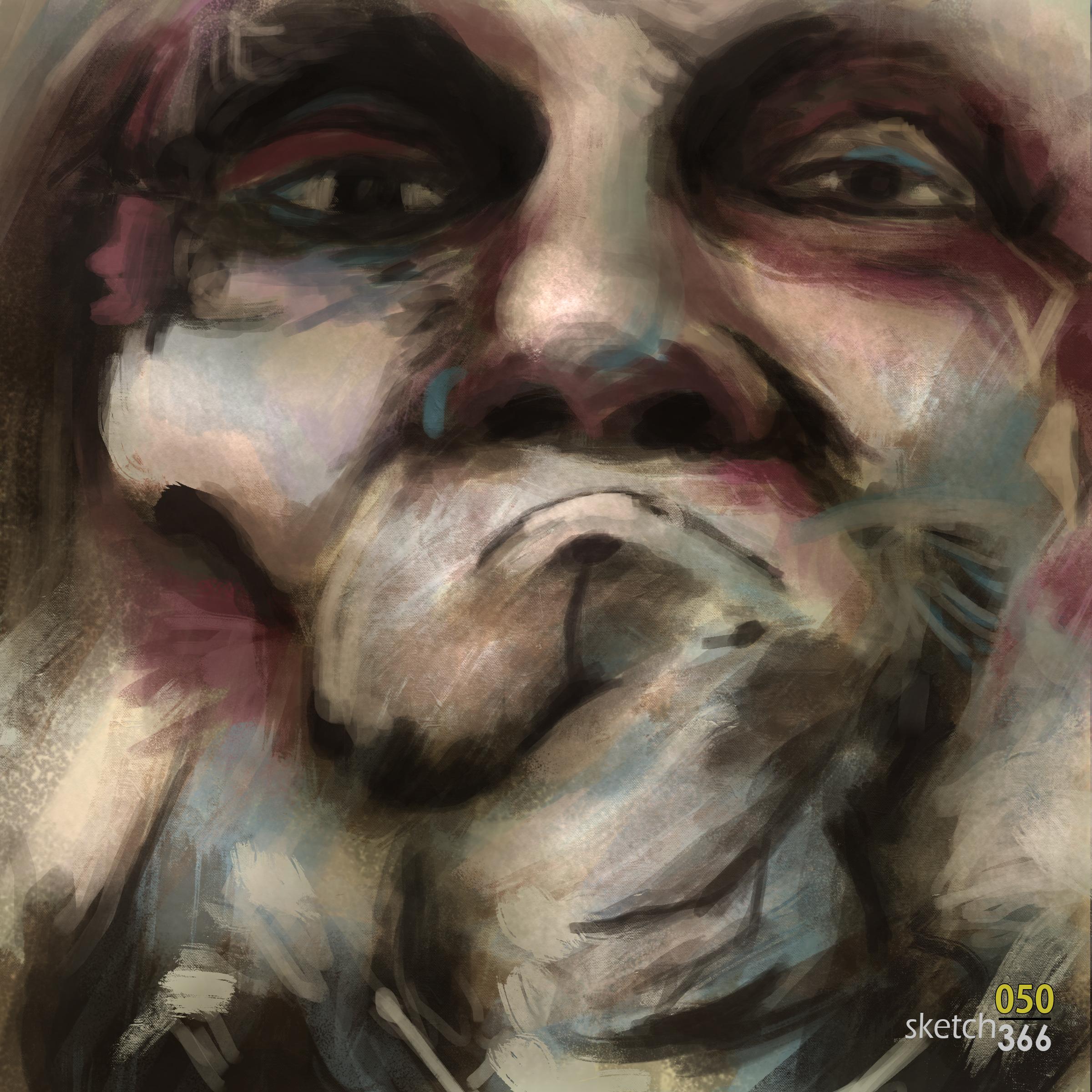 Lita Cabellut Master Study - digital paint