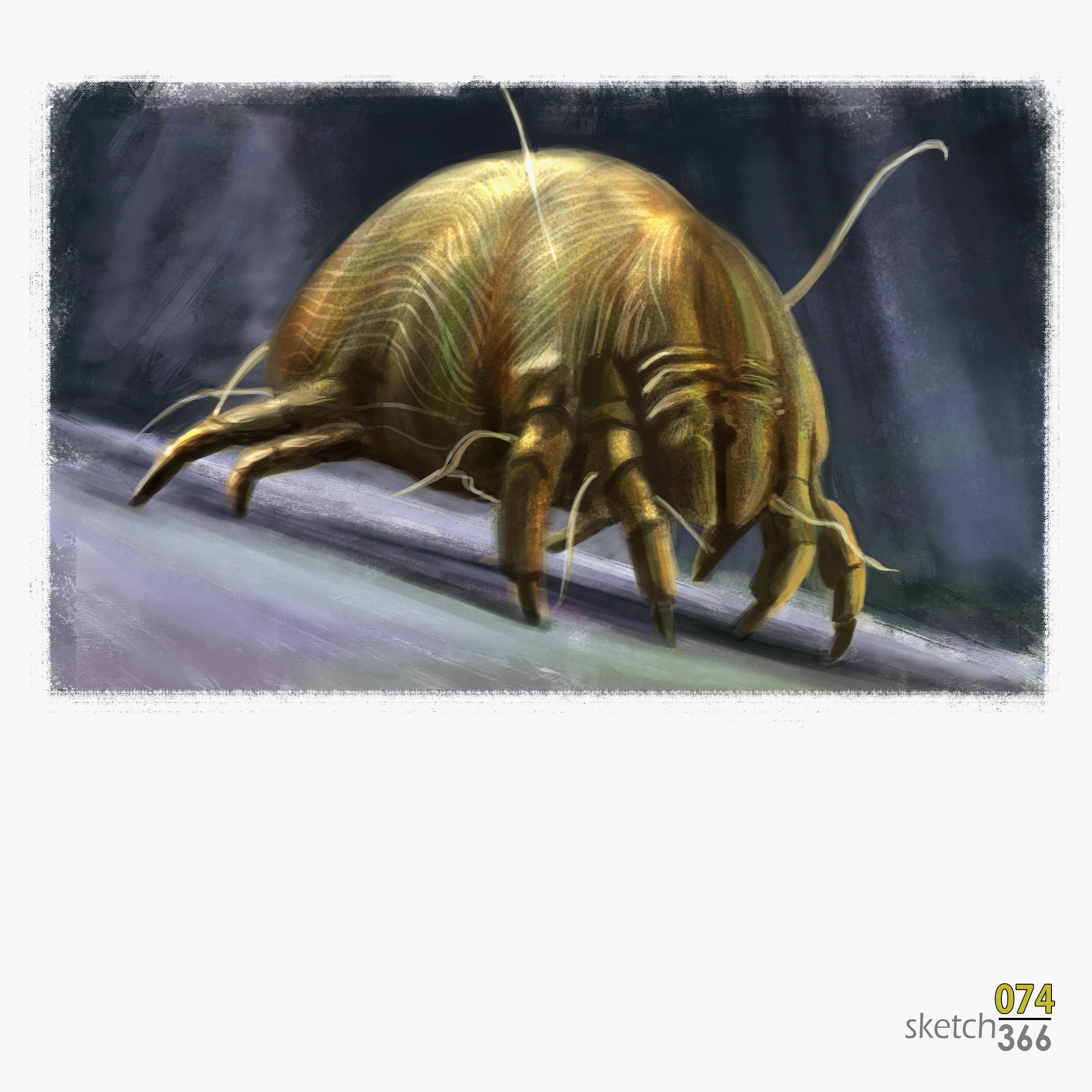 dust  mite - digital paint