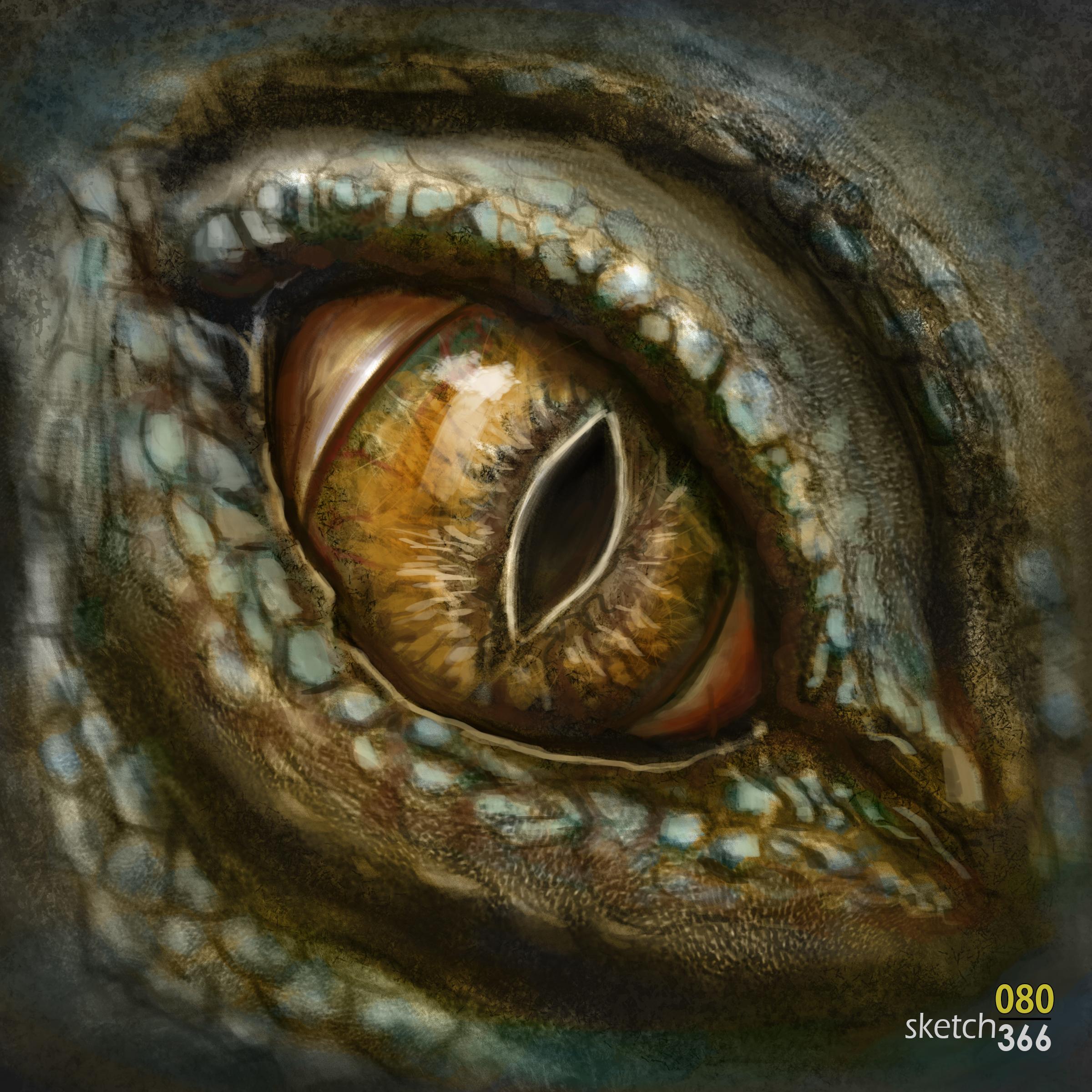 lizard eye coloring - digital paint