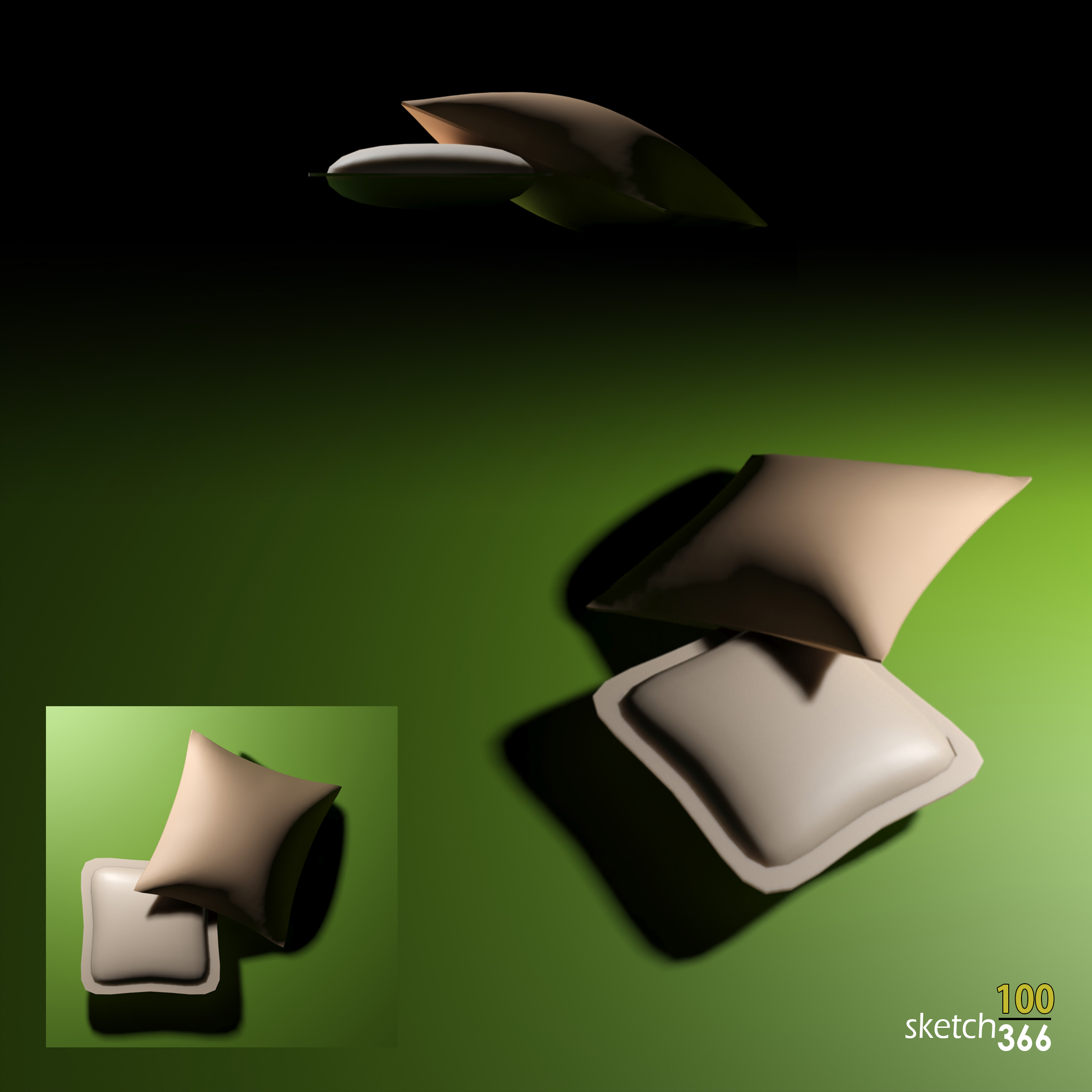 pillows - 3ds max