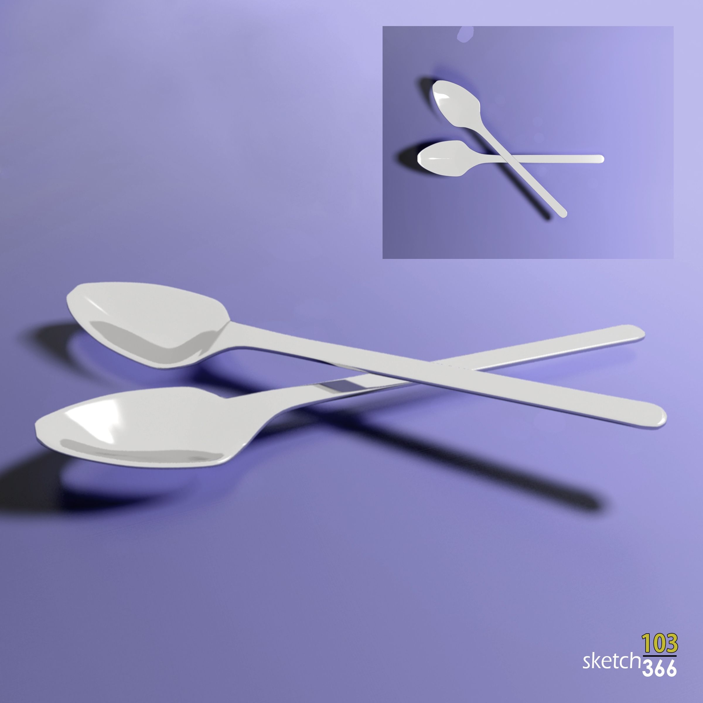 spoons - 3ds max