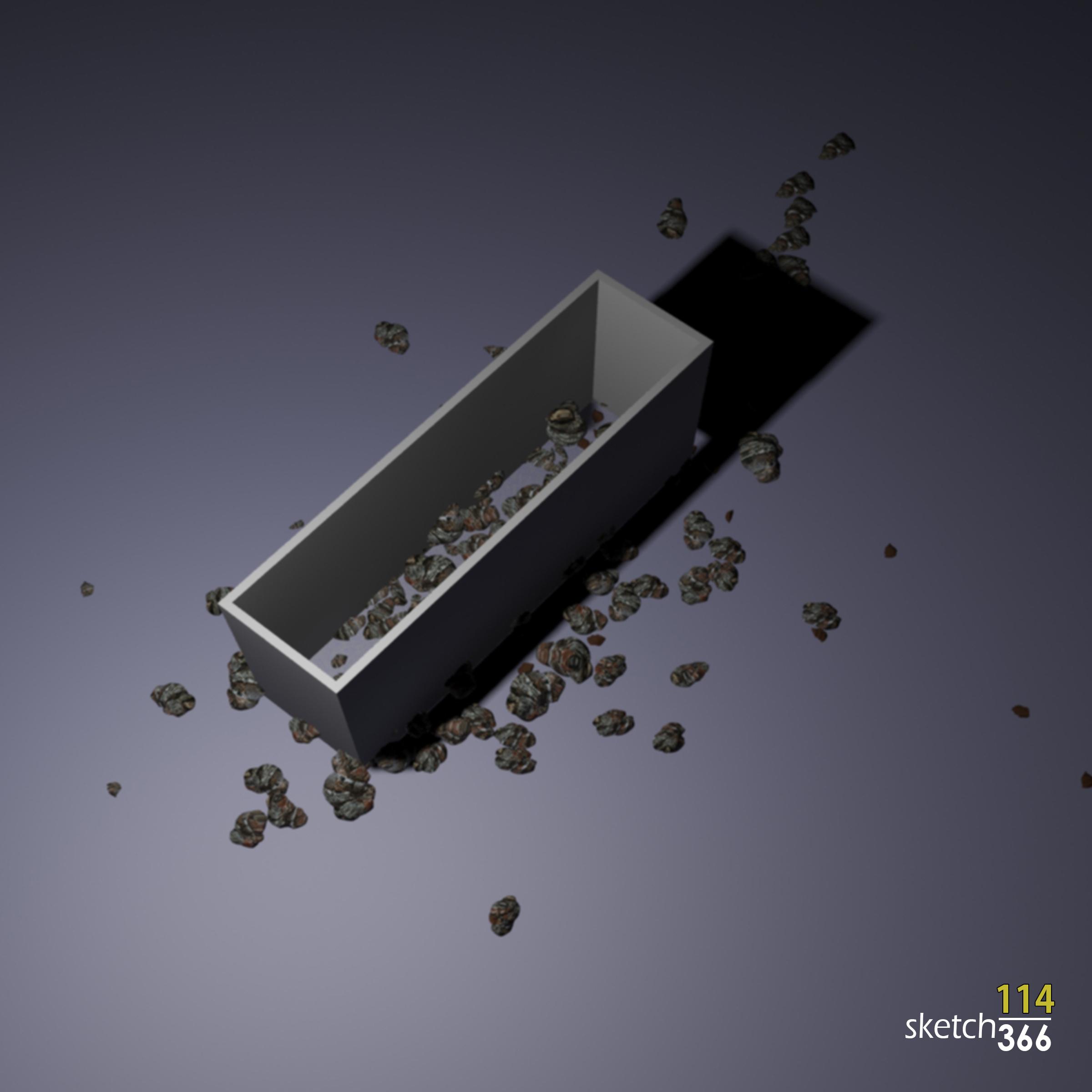 gabion wall fail - 3ds max