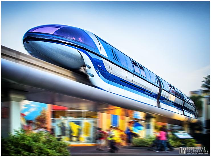 Monorail Downtown Disney - April 3, 2015