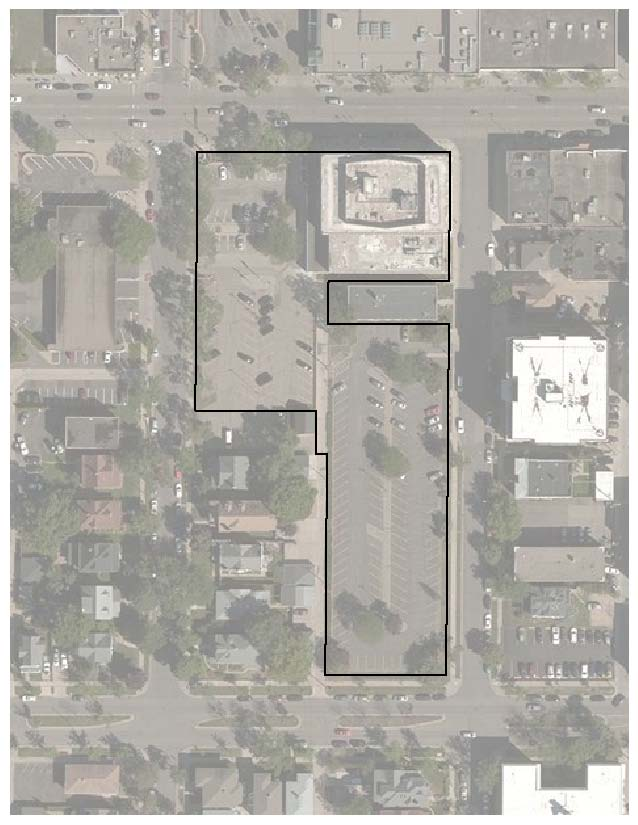 Aerial photo of proposed project location for Sons of Norway project (Lake St to 31st St, Humboldt to Holmes)