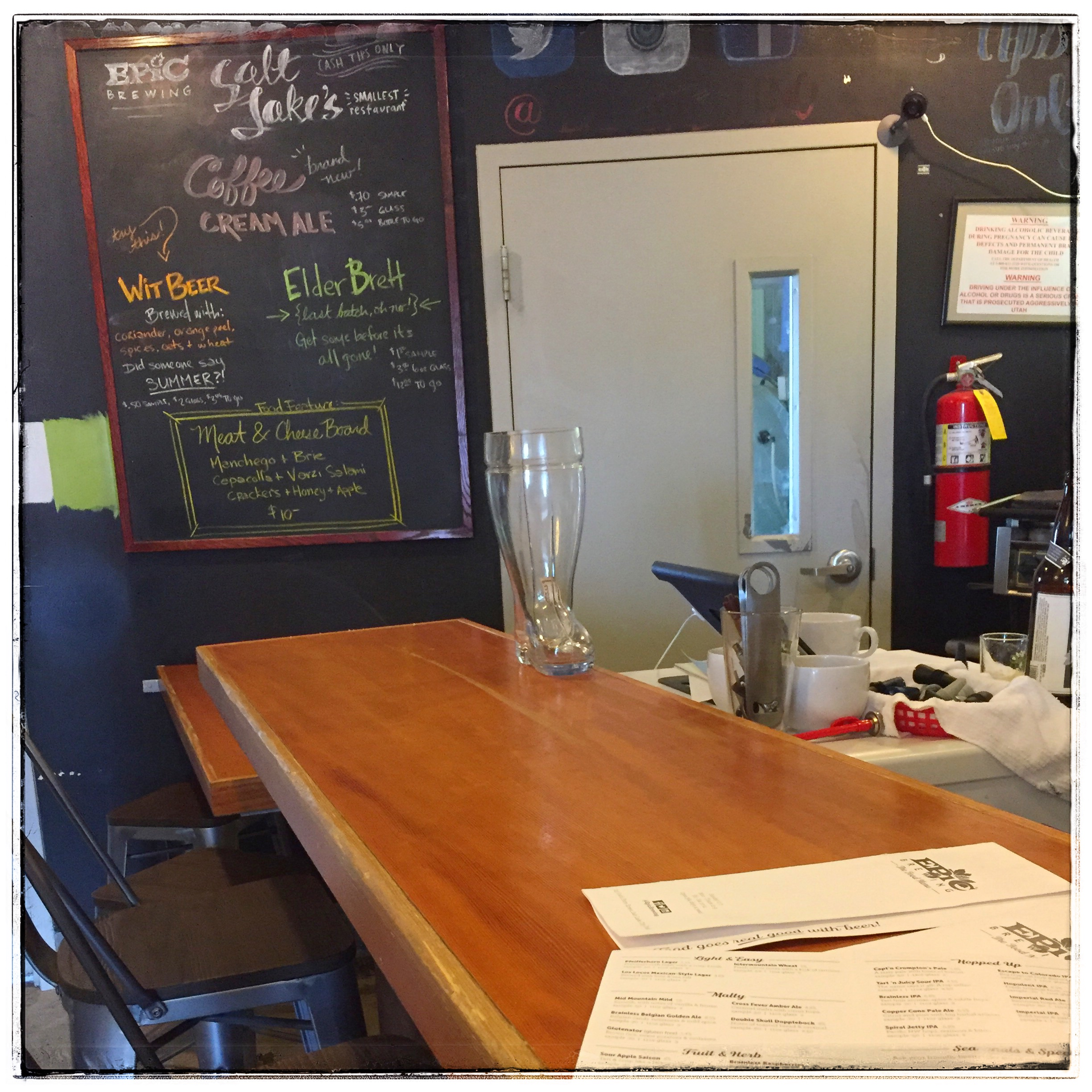 Salt Lake's Smallest Restaurant - The taproom — or should I say restaruant — was a small room tucked away from view.