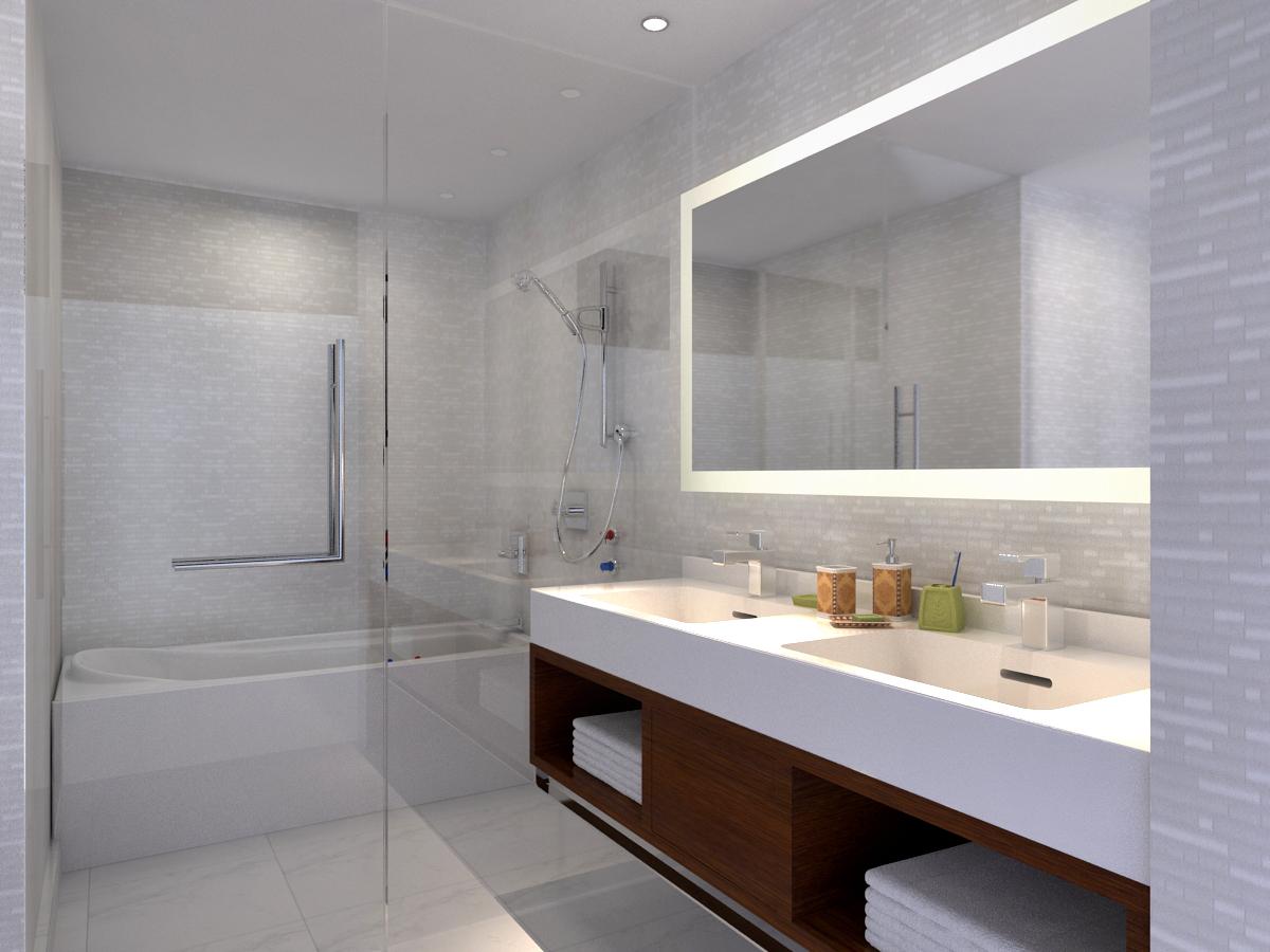 wagholi high-rise 4BHK - master bath