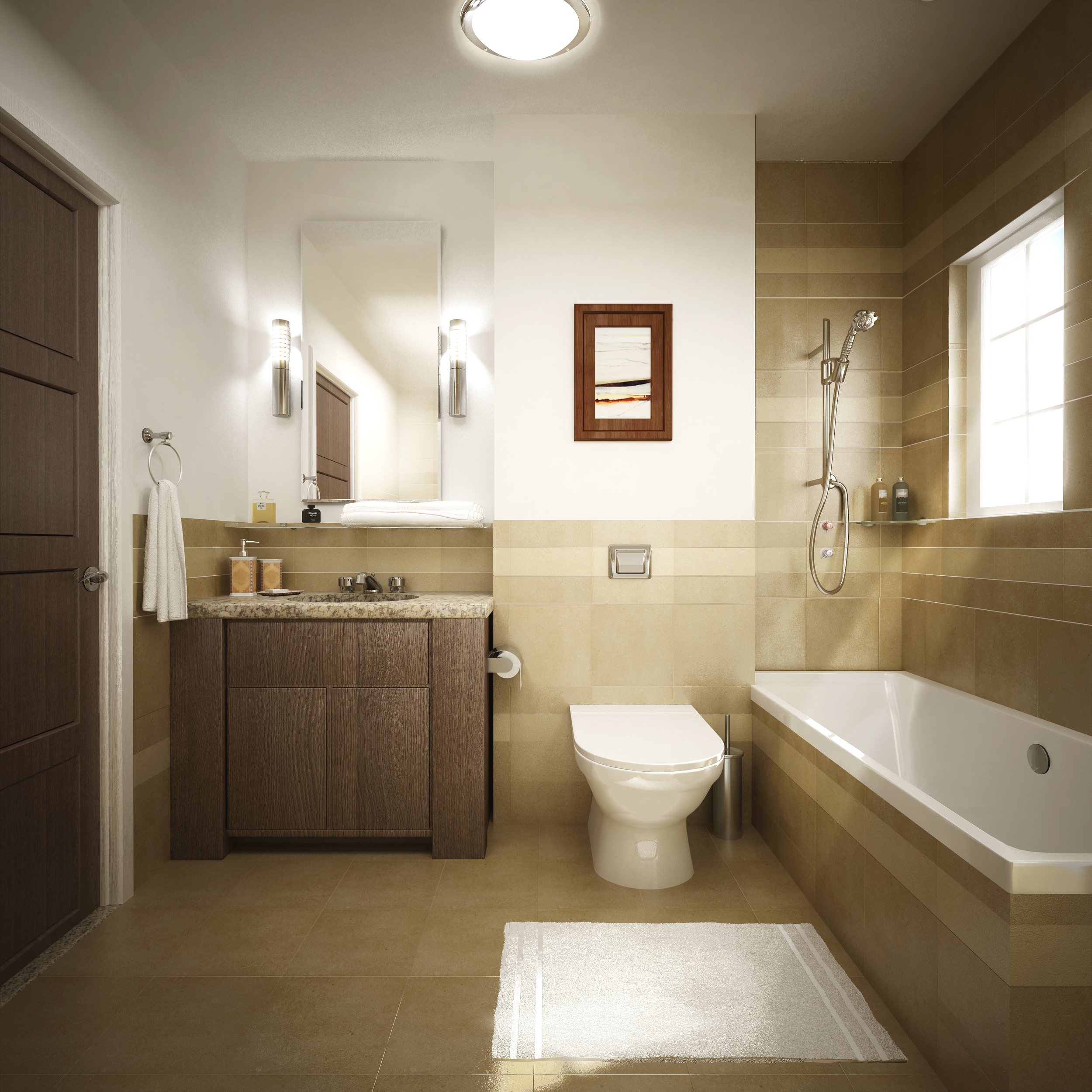 greek village at Marassi - typical bathroom