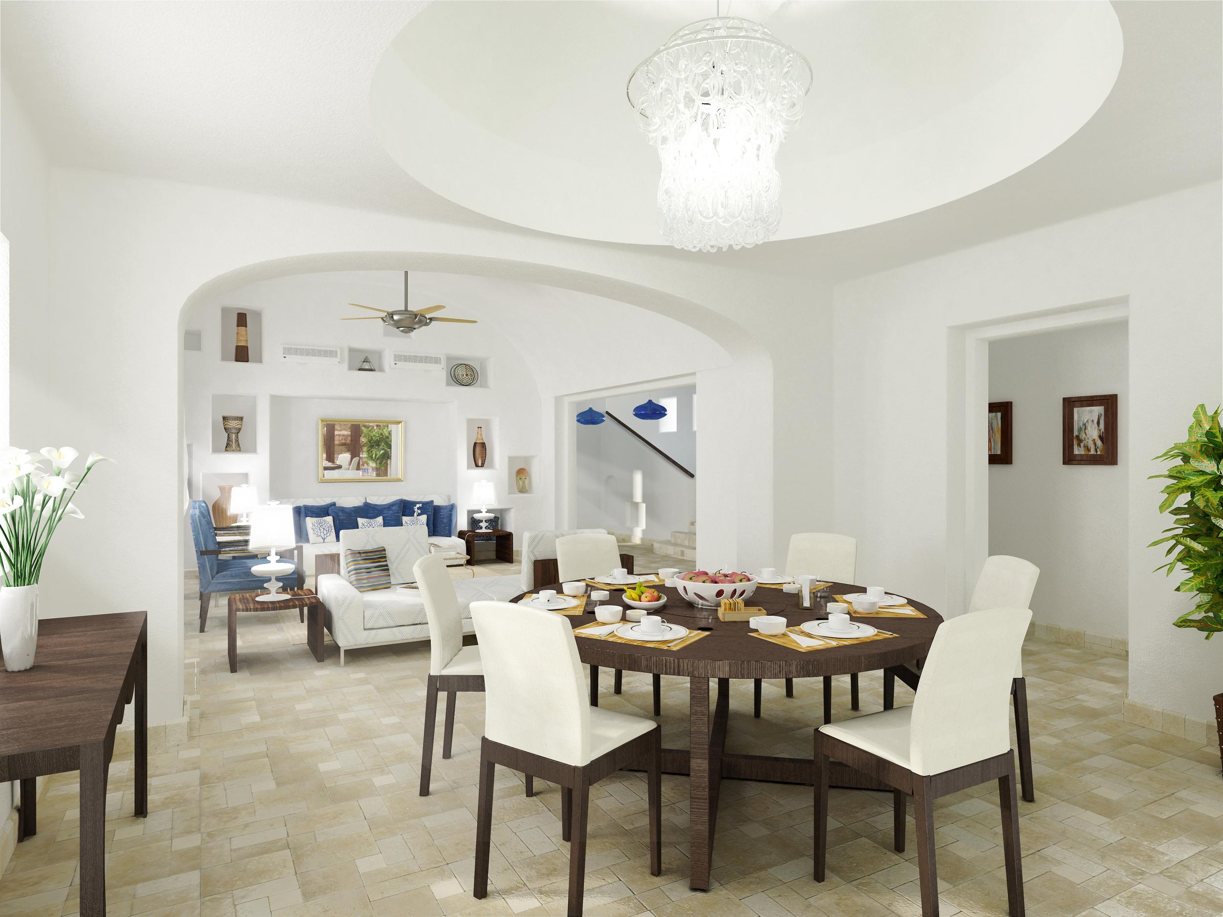 greek village at Marassi - living & dining room