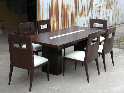 MJ Lotus dining table and chairs