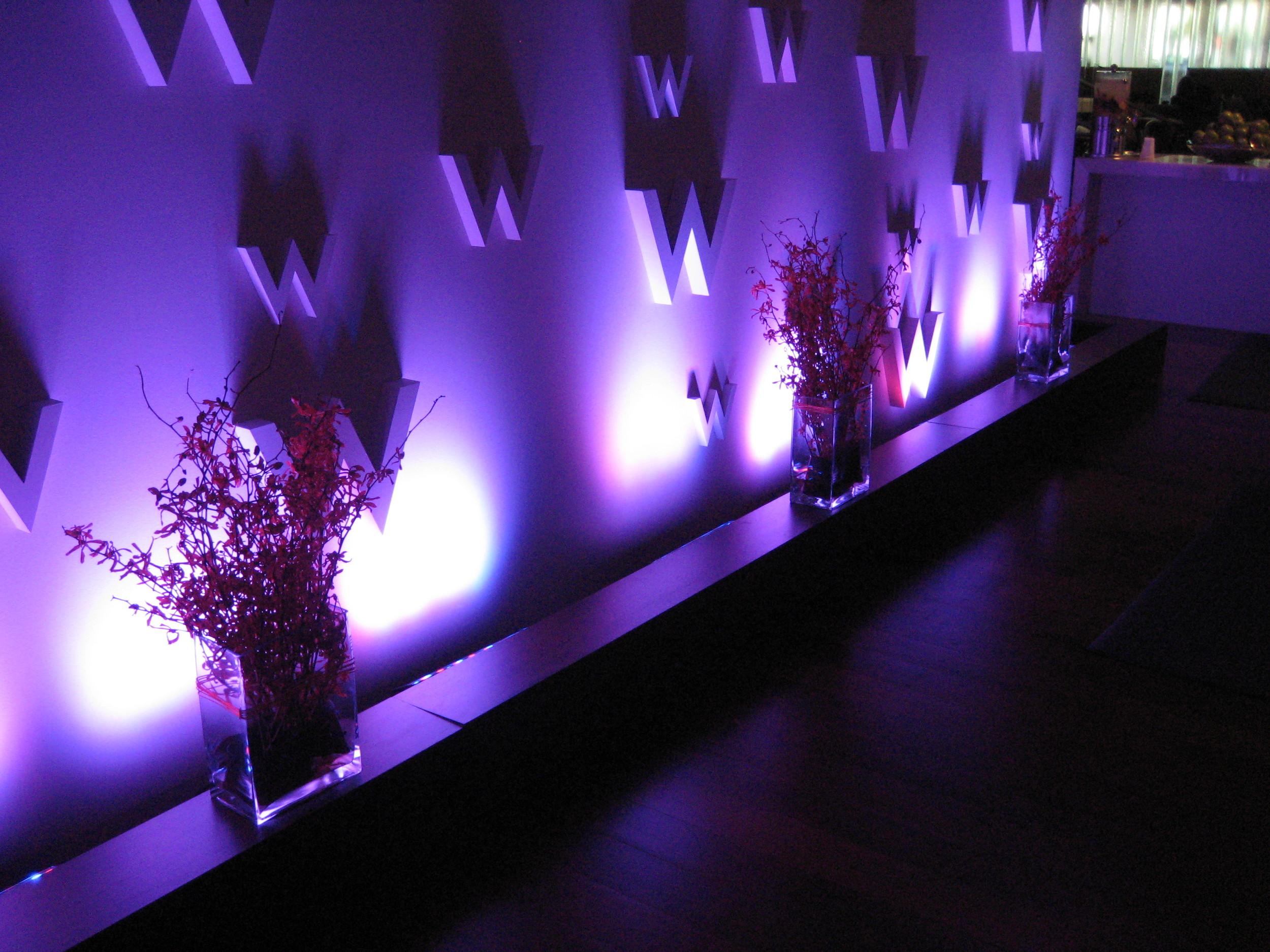 w scottsdale - reception wall detail