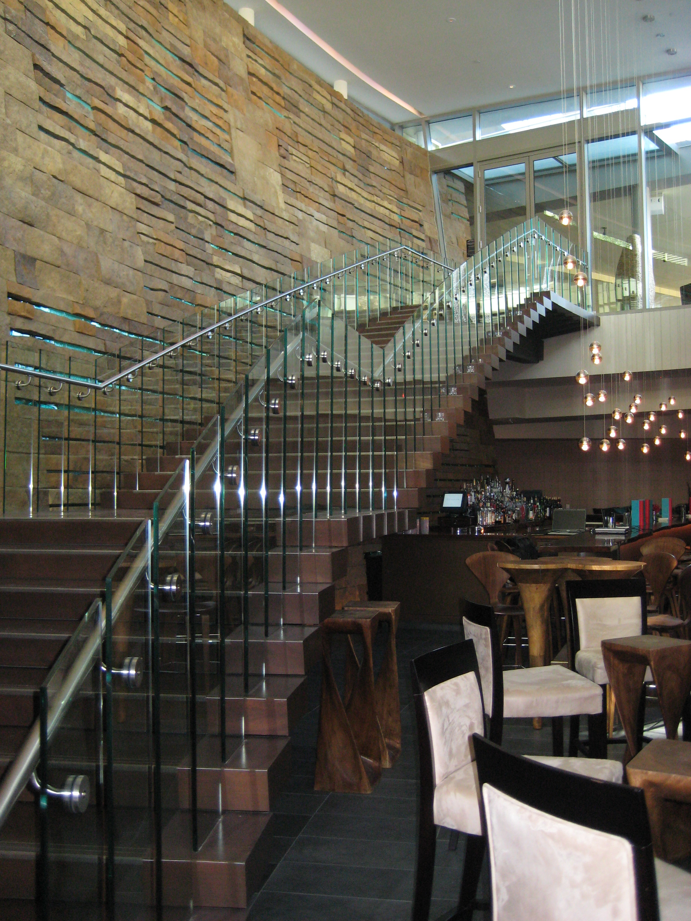 W scottsdale - grand staircase over bar