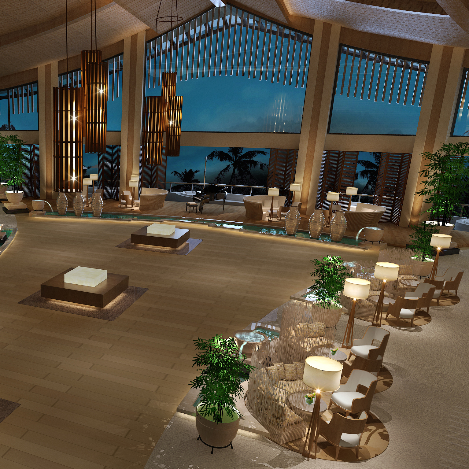 Radission Blu Sanya - Lobby Overview