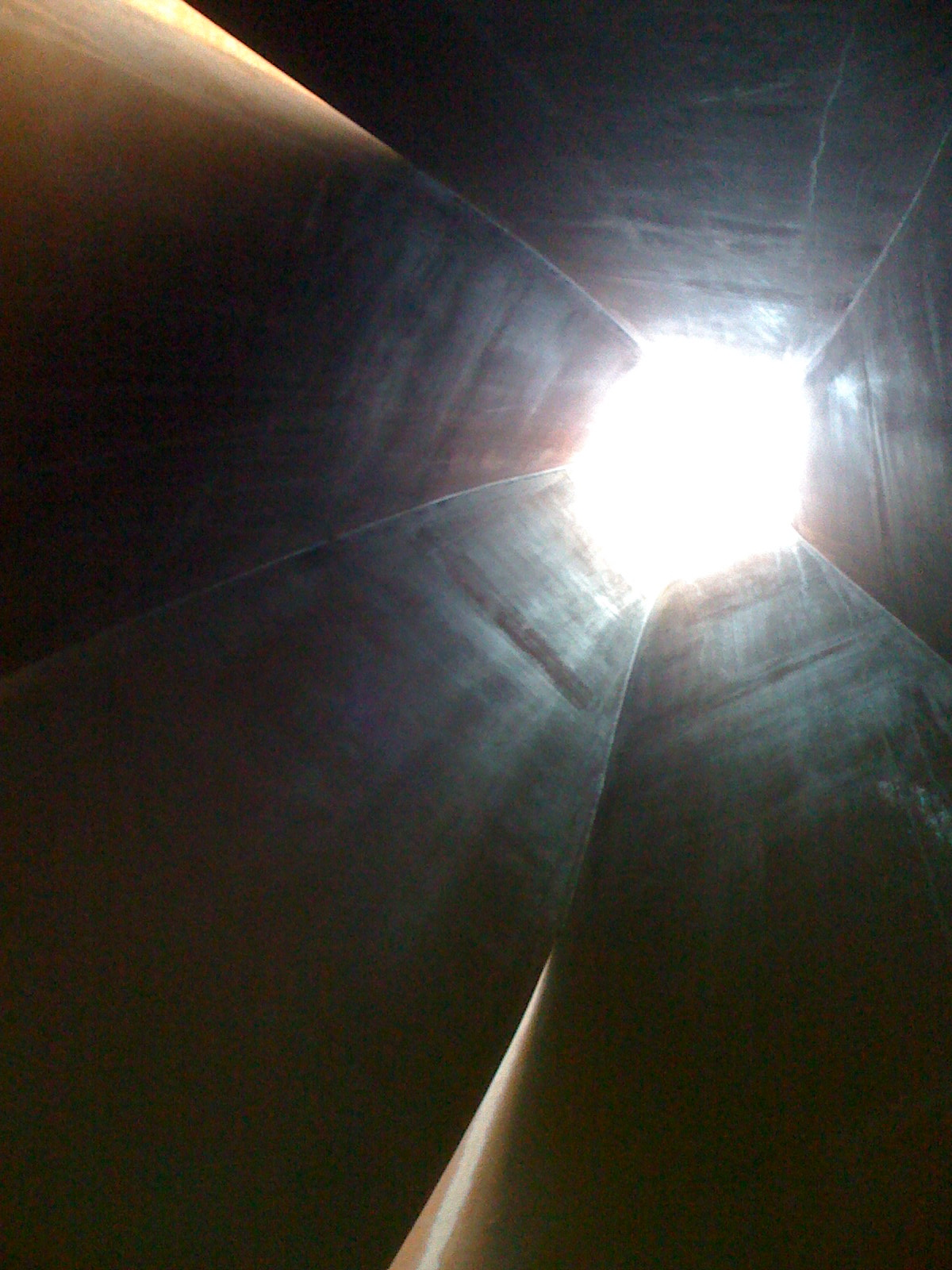 "Inside Richard Serra sculpture, ""Connector"""