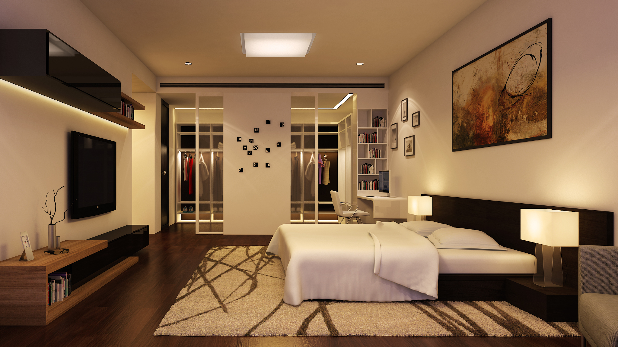 wagholi 4BHK - master bedroom