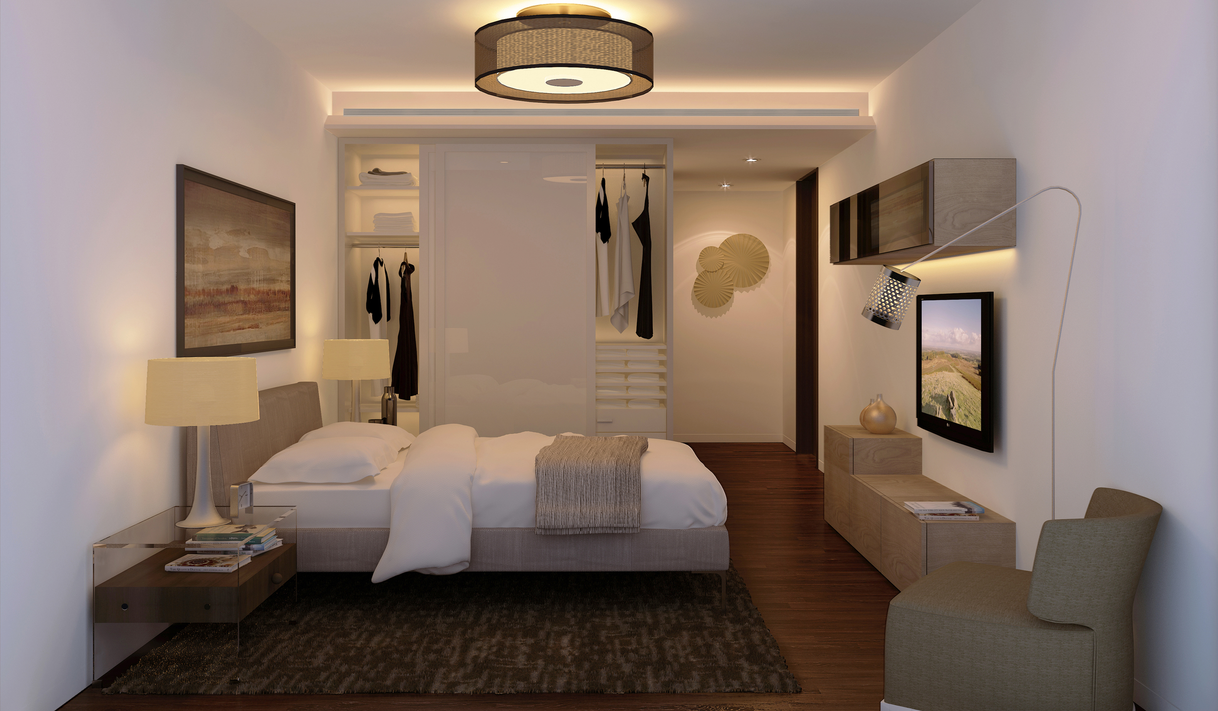 wagholi high-rise 4BHK - guest bedroom