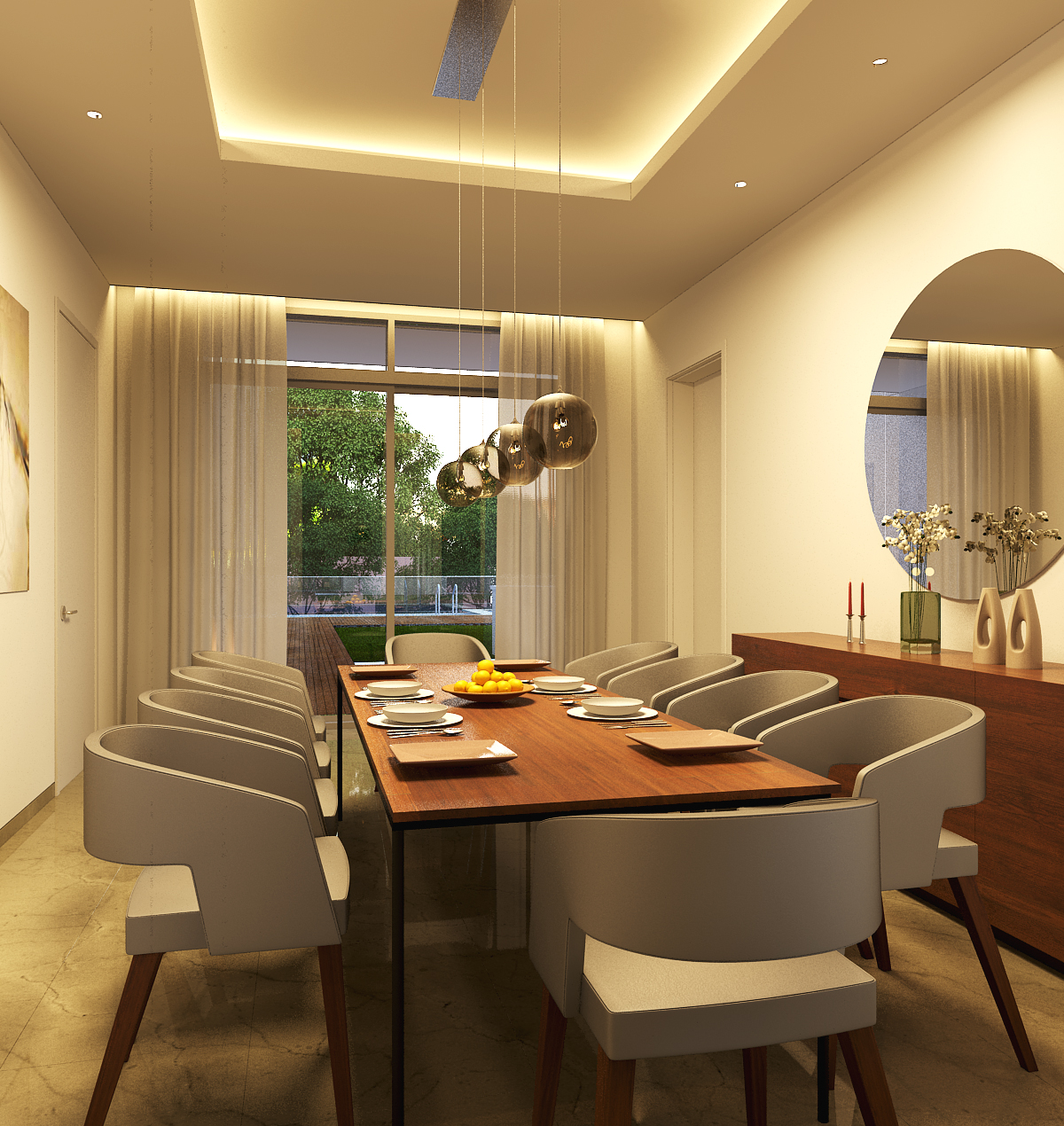 wagholi villa 2 - dining room