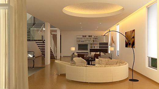 wagholi villa 2 - living room from deck