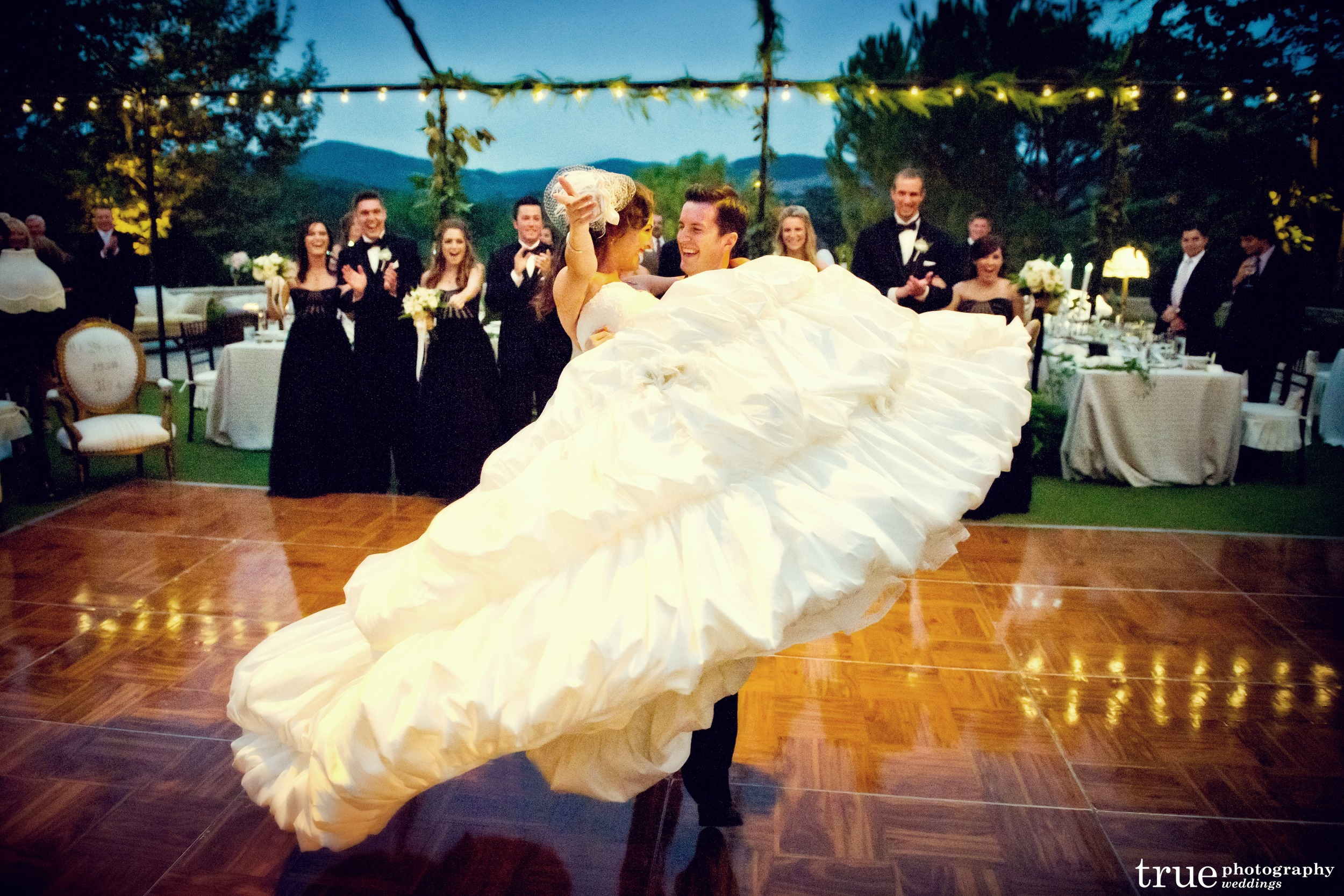Trevor and Amanda's first dance. We had the bridal party lined up on the dance floor so they could be in the pictures too.