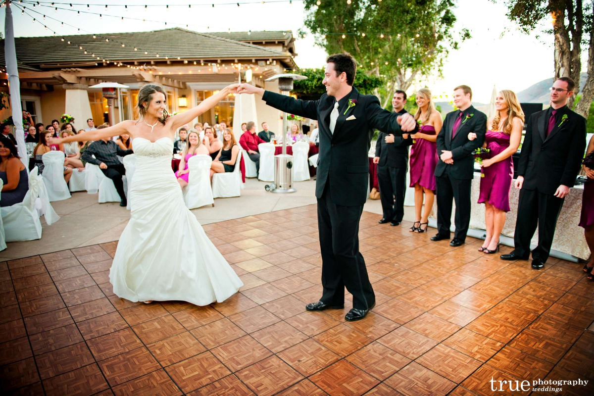 Michelle and George showing off for their first dance. We did the first dance immediately after the grand entrance.