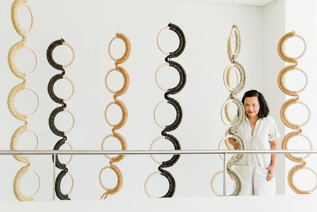 Ten Spinal Columns by Windy Chien (artist pictured), 2018