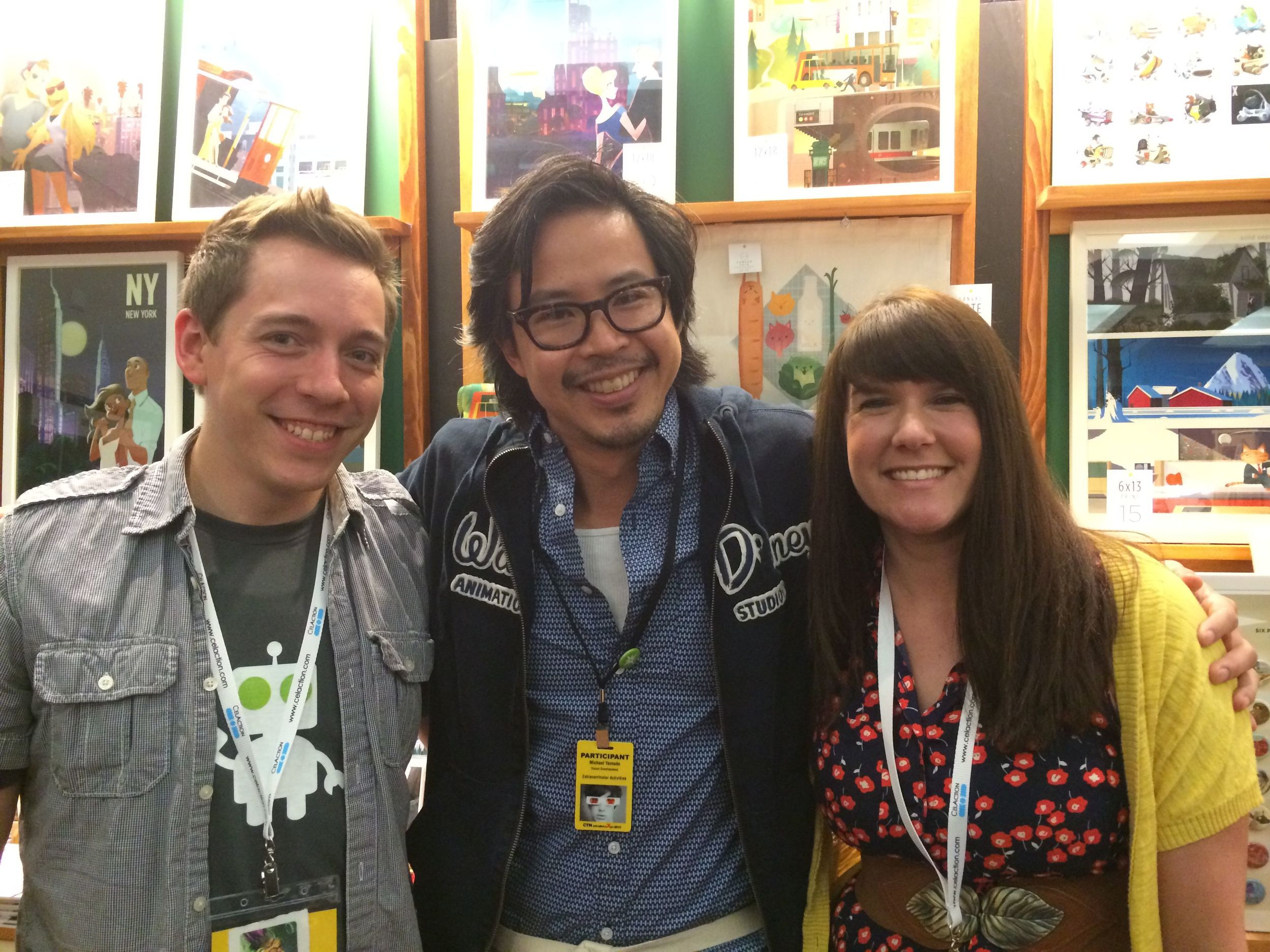 Mike Yamada (wish we got a pic of Vicky too - she was at the Disney booth)