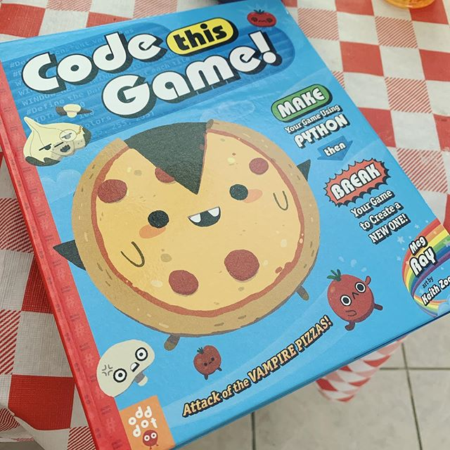 I had a lot of fun working on this book. Meg Ray breaks down how to program in a nice digestible way, which is great for kids.  I added a bunch of fun stuff like pizza vampires, hedgehogs, Franken-burgers, and a whole lot more. Cool thing is that you can download all the assets I made to help you make your very own game! #codethisgame #odddotbooks