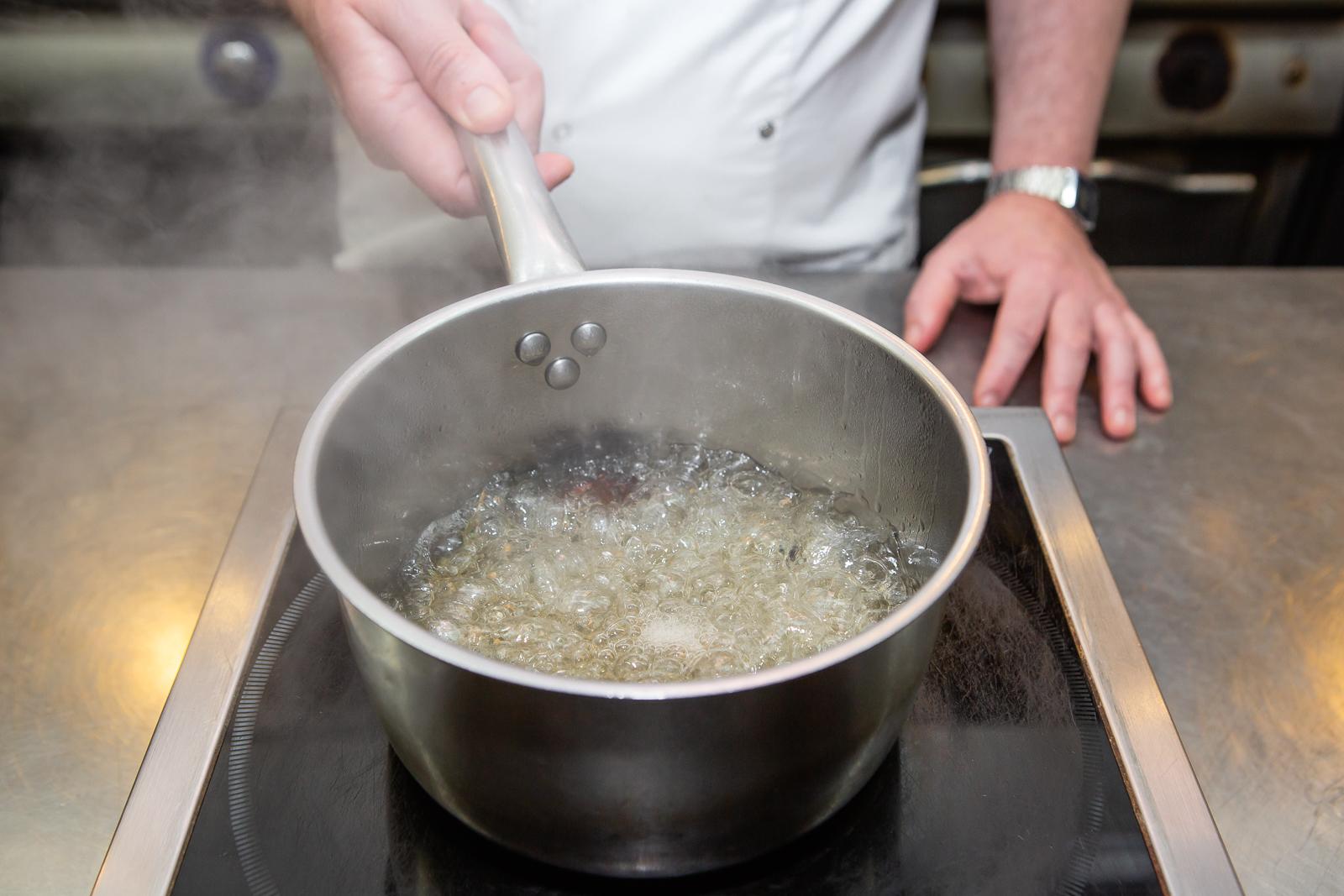 STEP THREE - Boil until all the sugar has dissolved.
