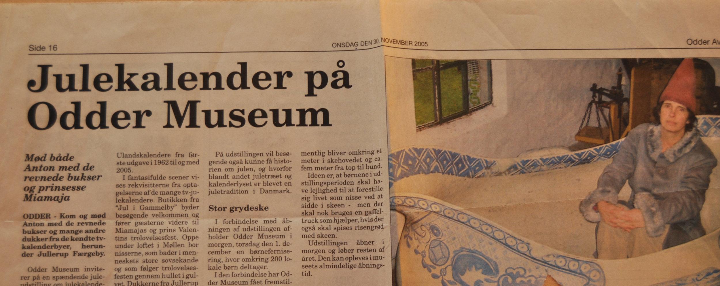 Udstillingsleder - Odder Museum - DR' Julekalender gennem tiden 2005