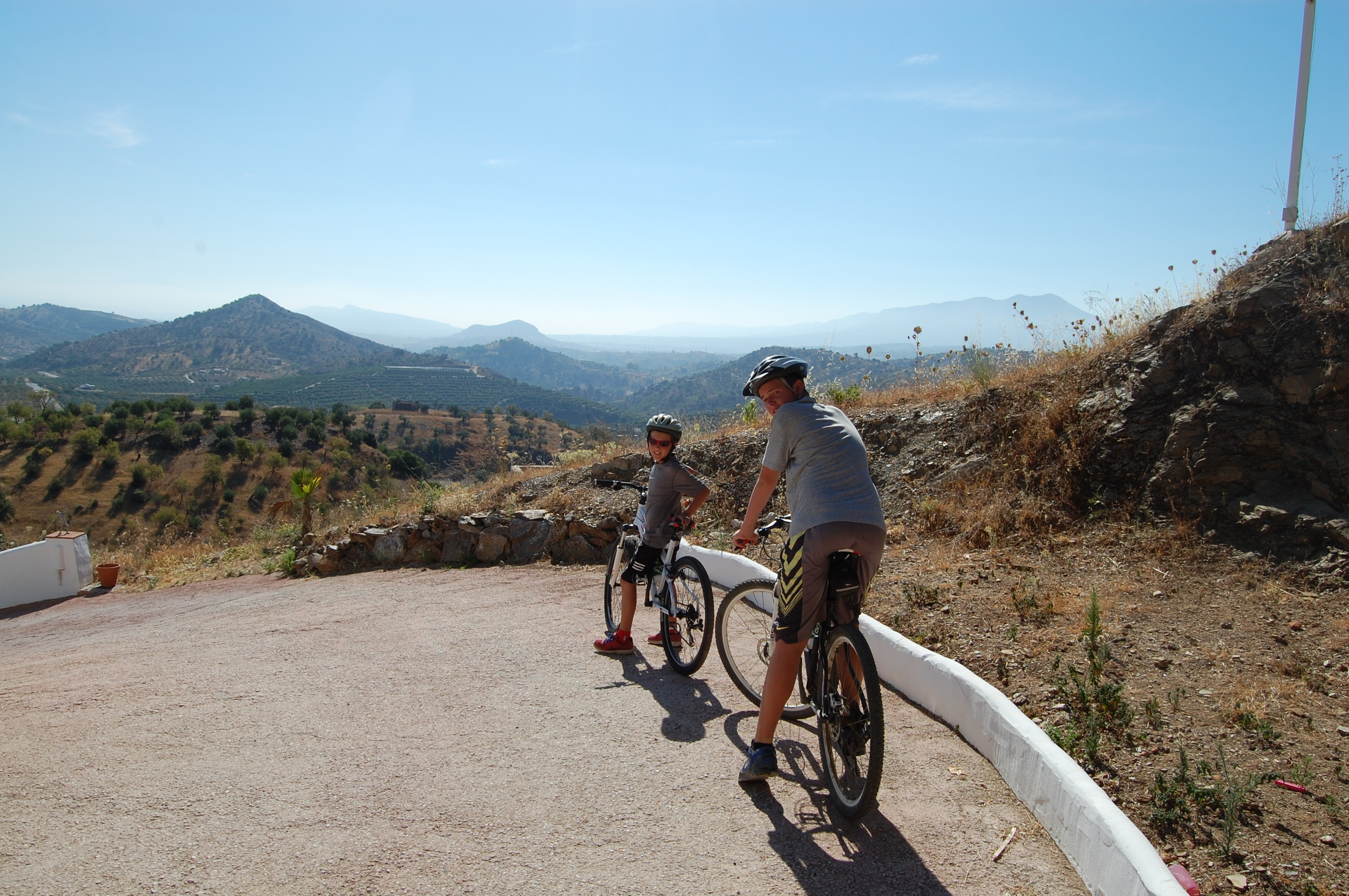 Rented bikes, for them hills.