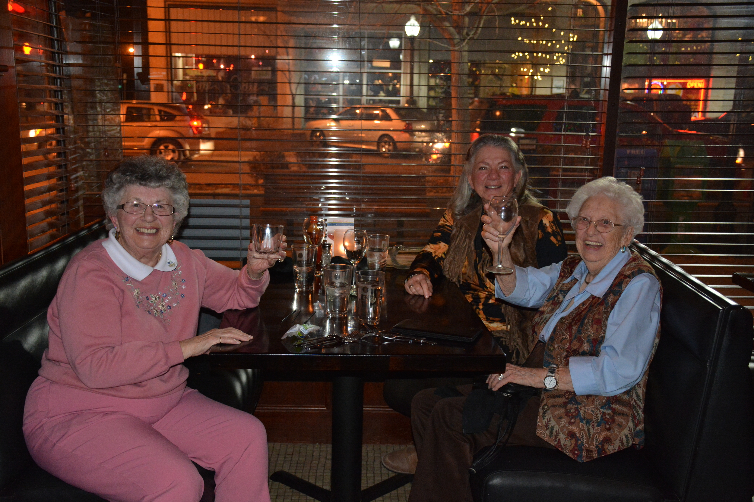 Faye (right front), Diane (right back), Betty (left)