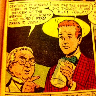 Curt Swan captures the feeling of drinking something you shouldn't have.