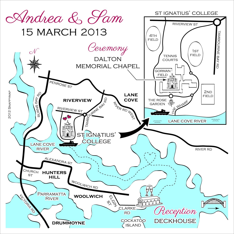 Hand Drawn Map Sydney