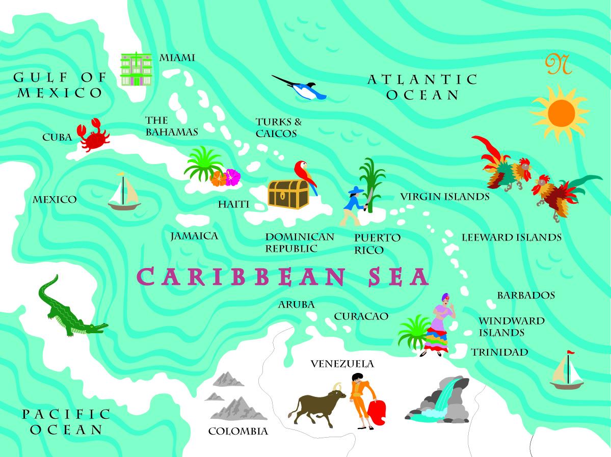 Fun Map Caribbean