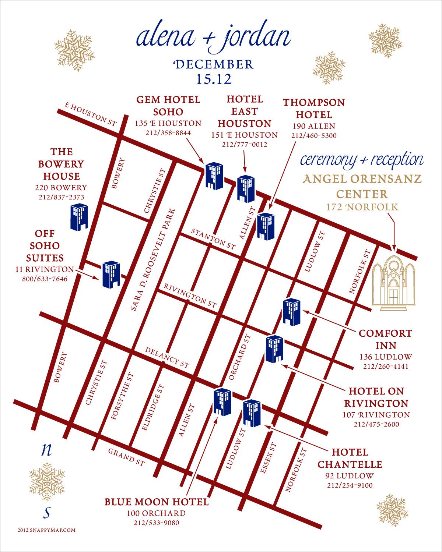 Fun Wedding Map Manhattan
