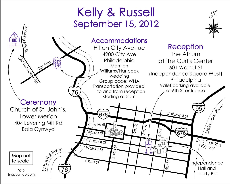 Fun Wedding Map Philadelphia