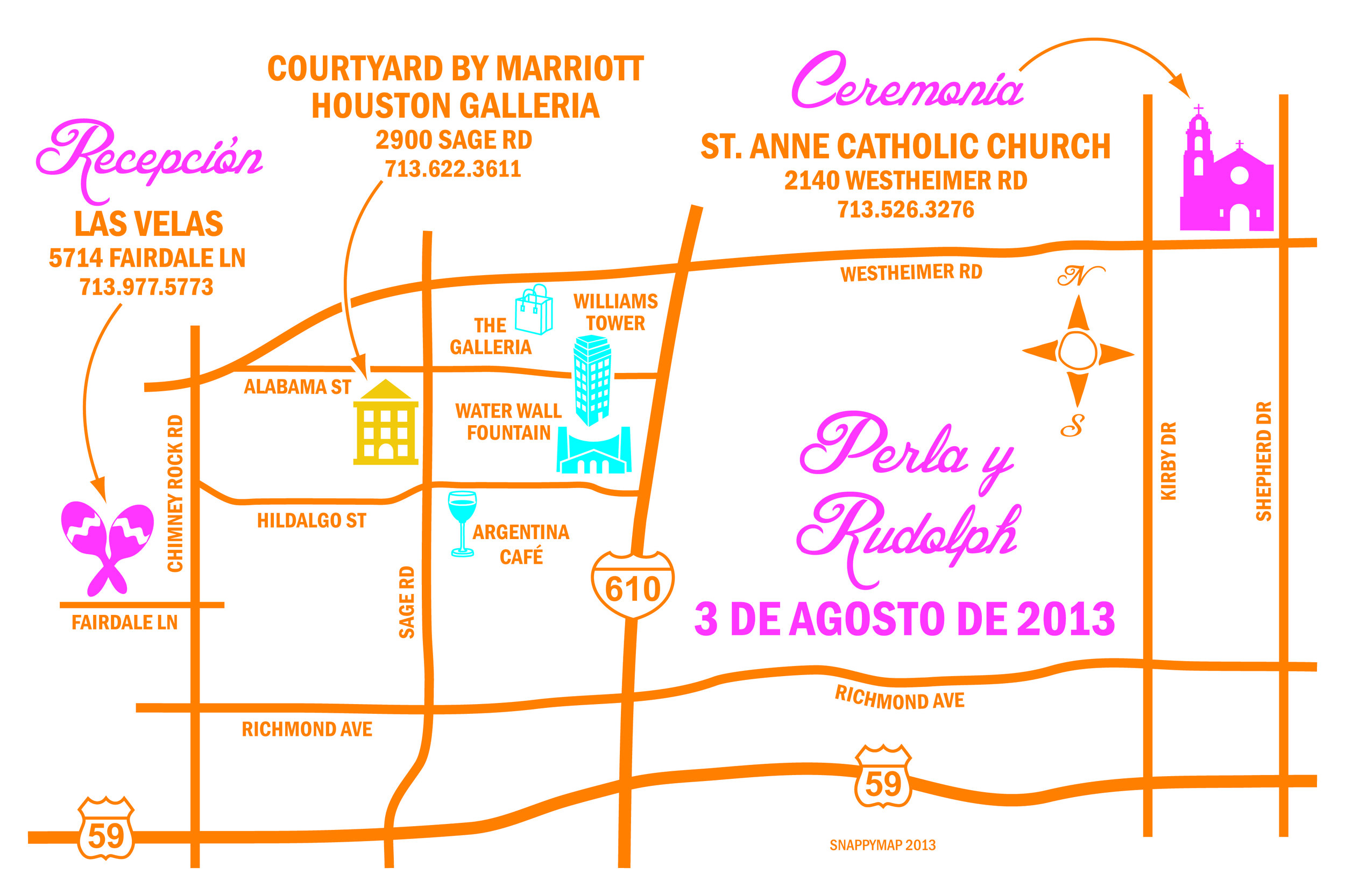 Fun Wedding Map Houston
