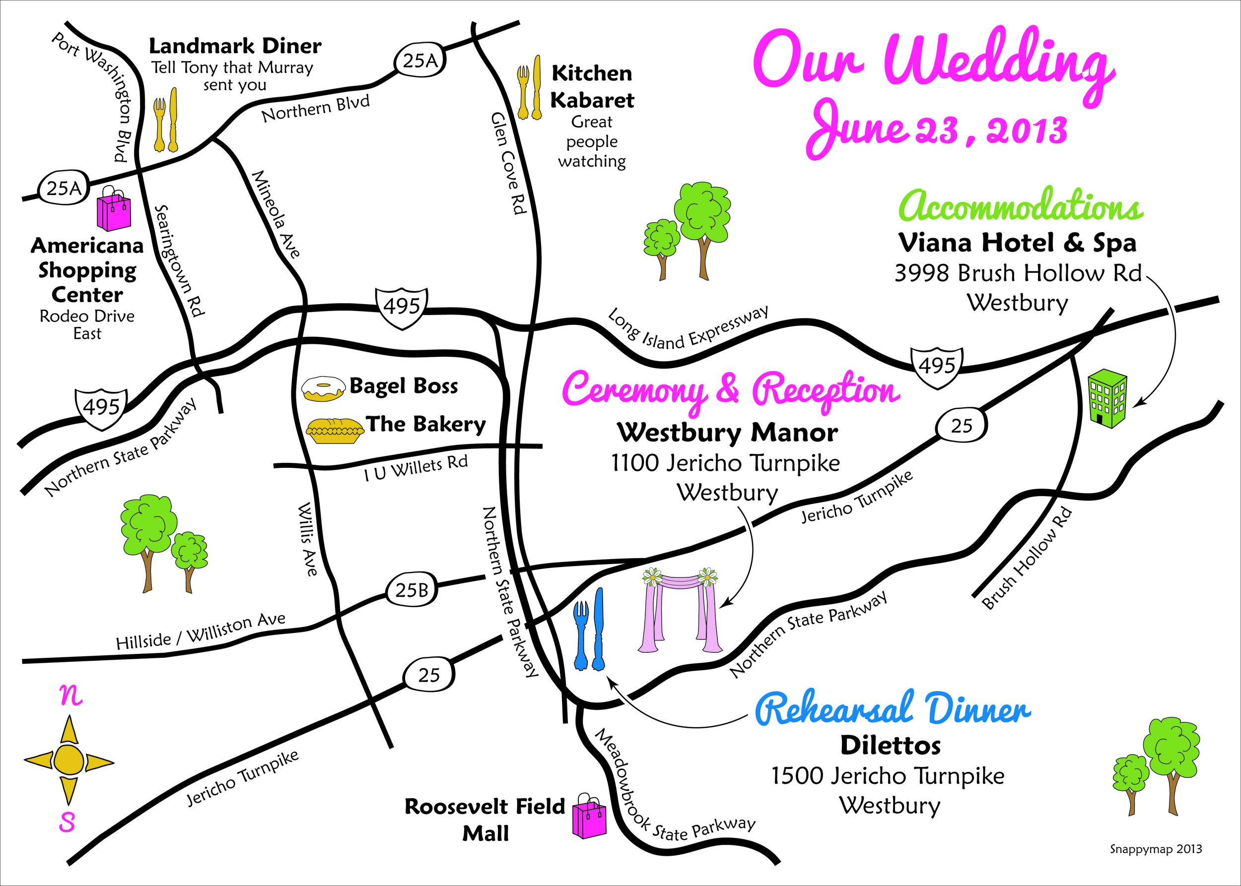Fun Wedding Map New York