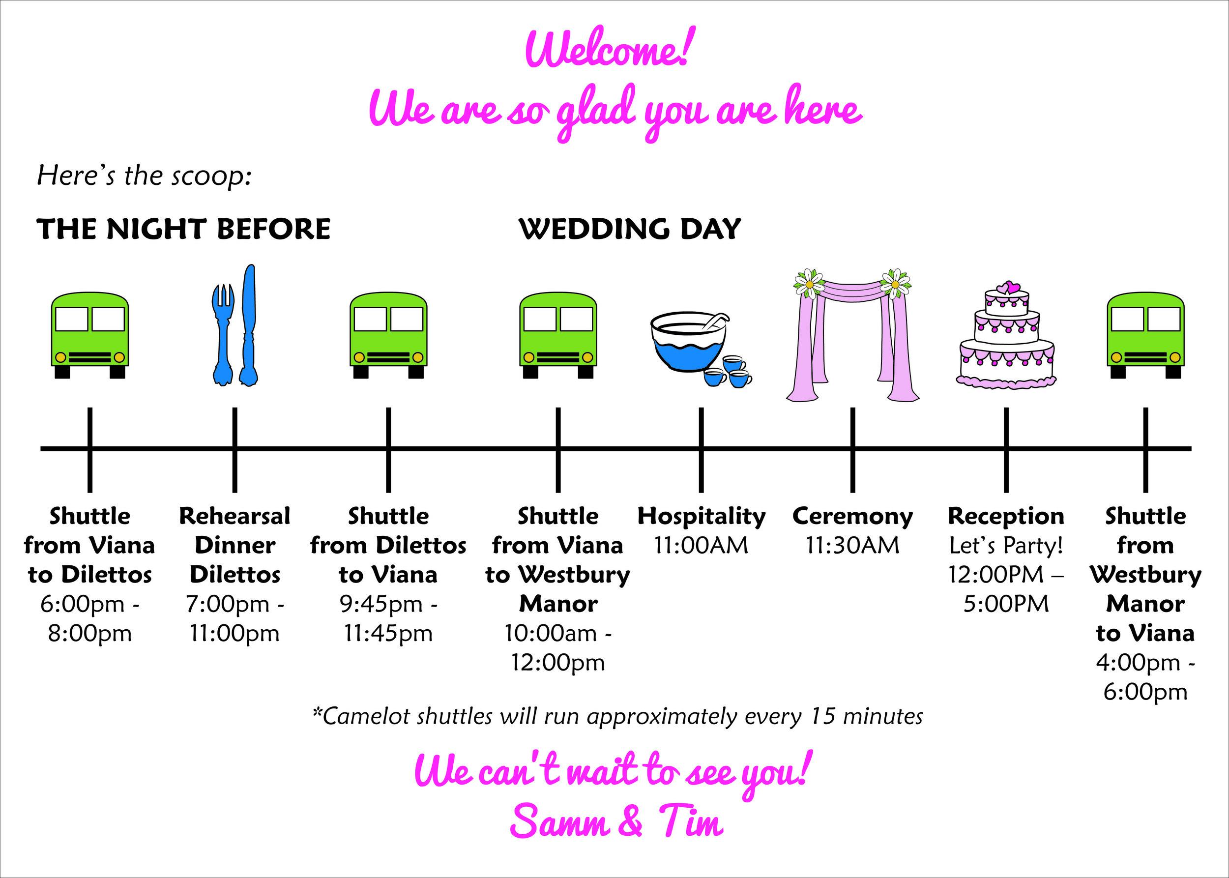 Fun Wedding Itinerary