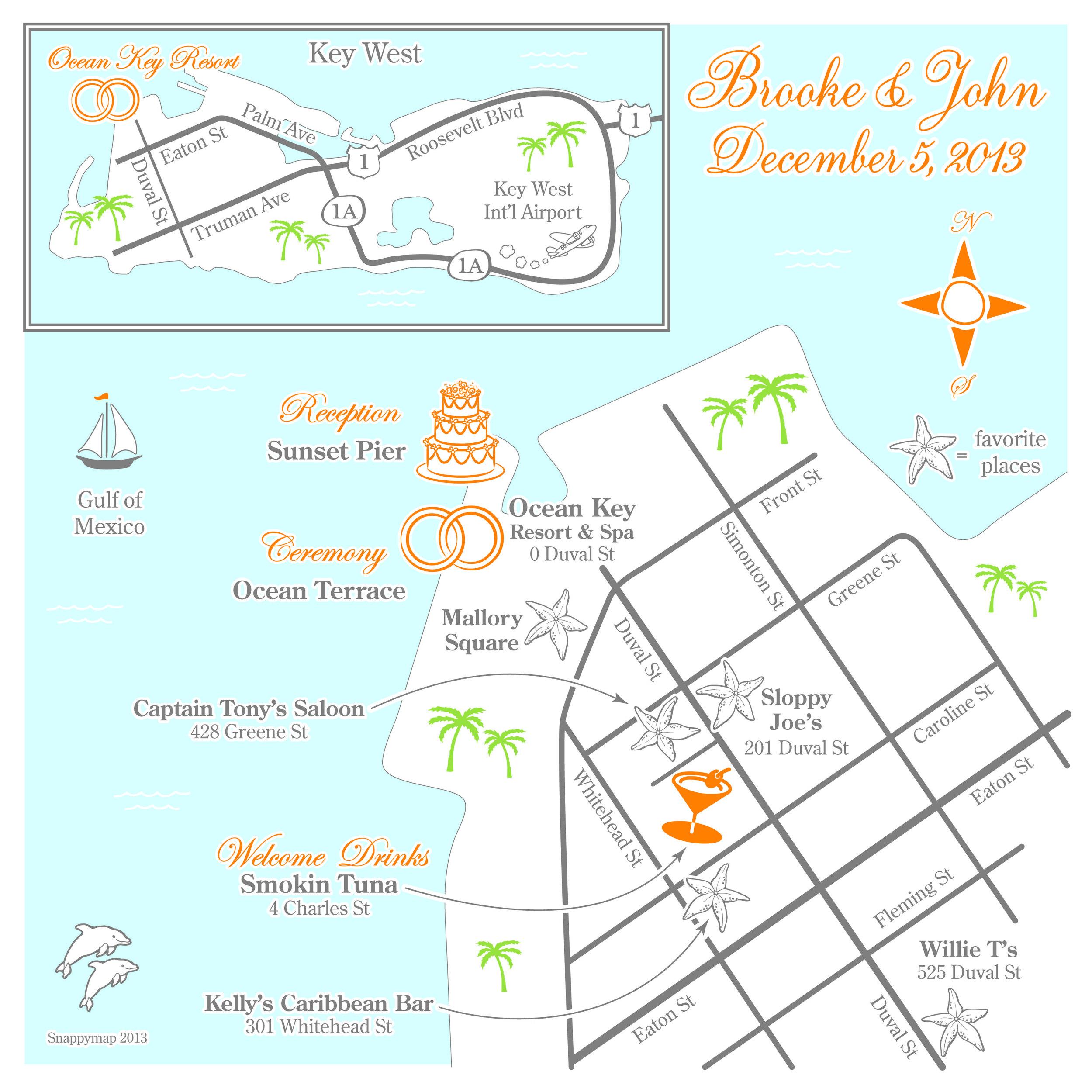 Fun Wedding Map Key West 2