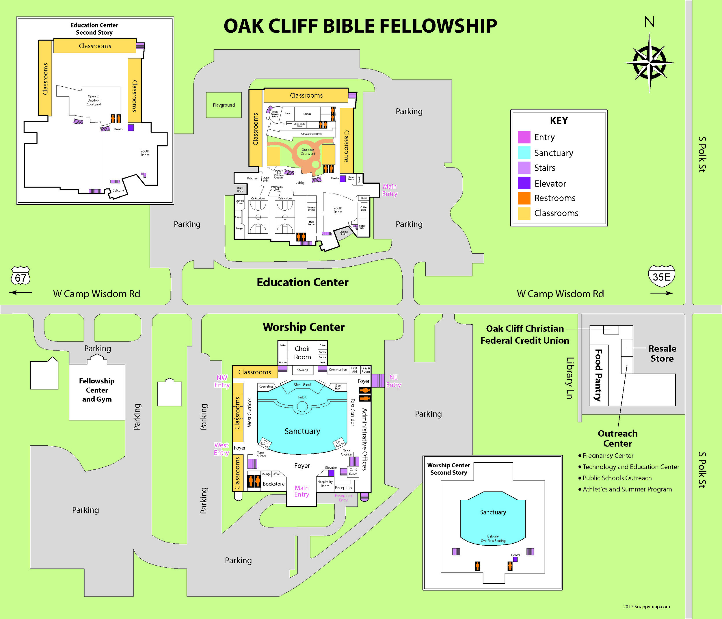 Church campus map