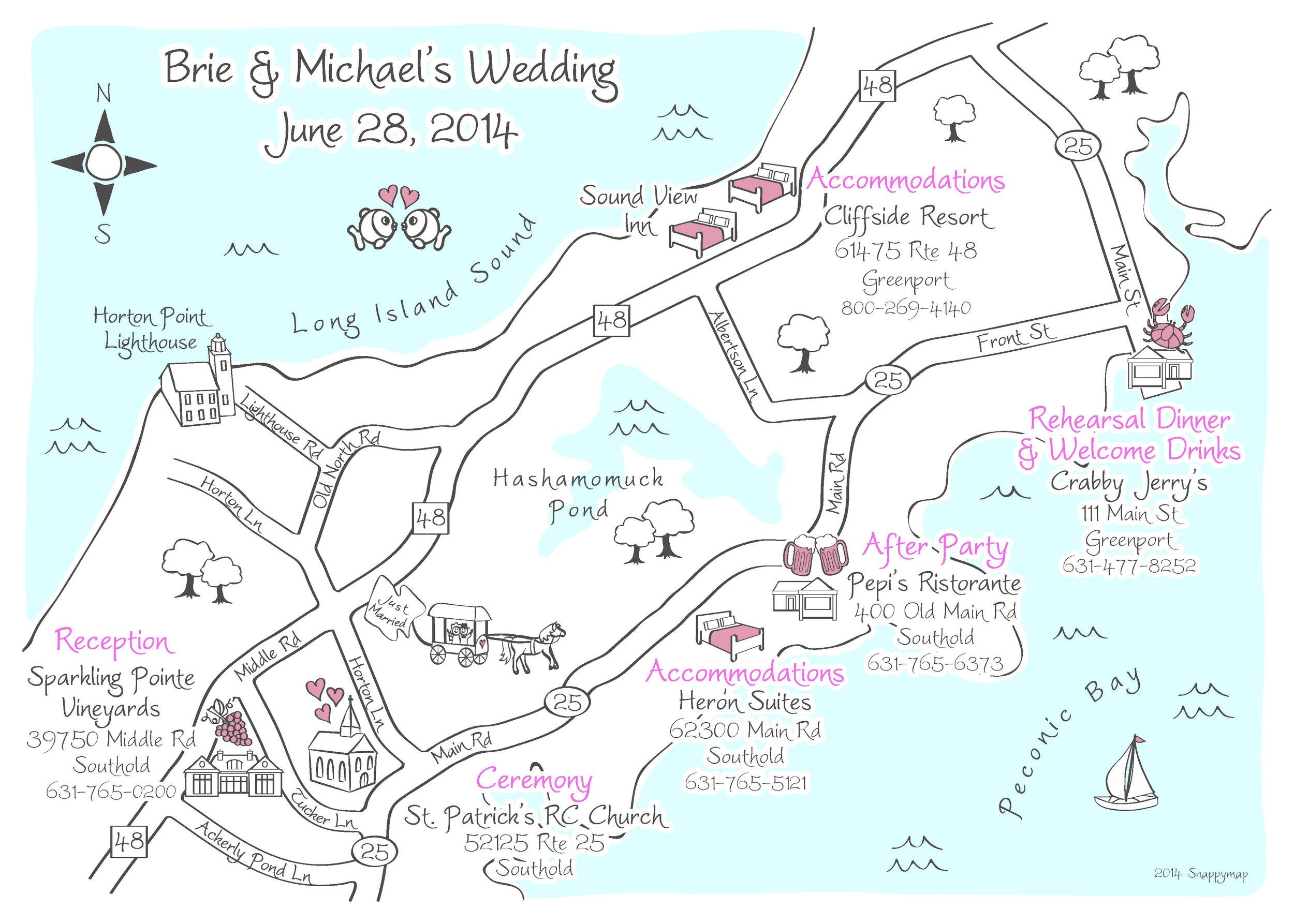 Hand Drawn Map Long Island