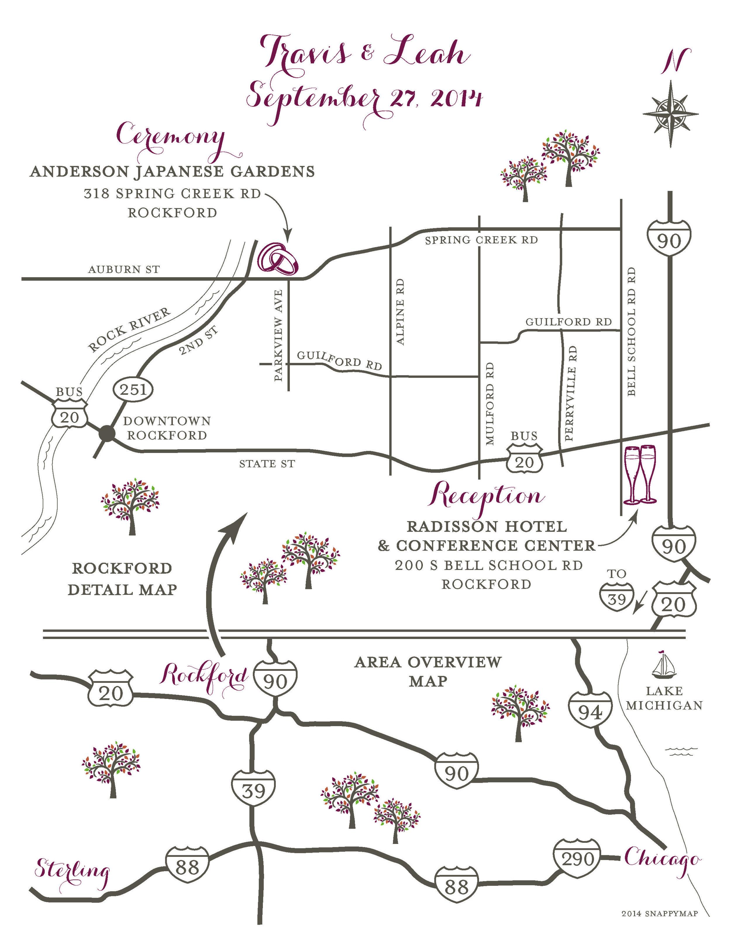 Formal Wedding Map Rockford
