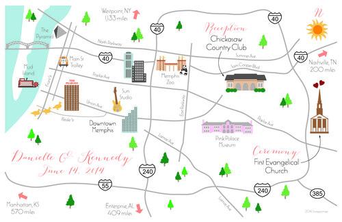 Fun Wedding Maps — Custom Map Design by Snappymap