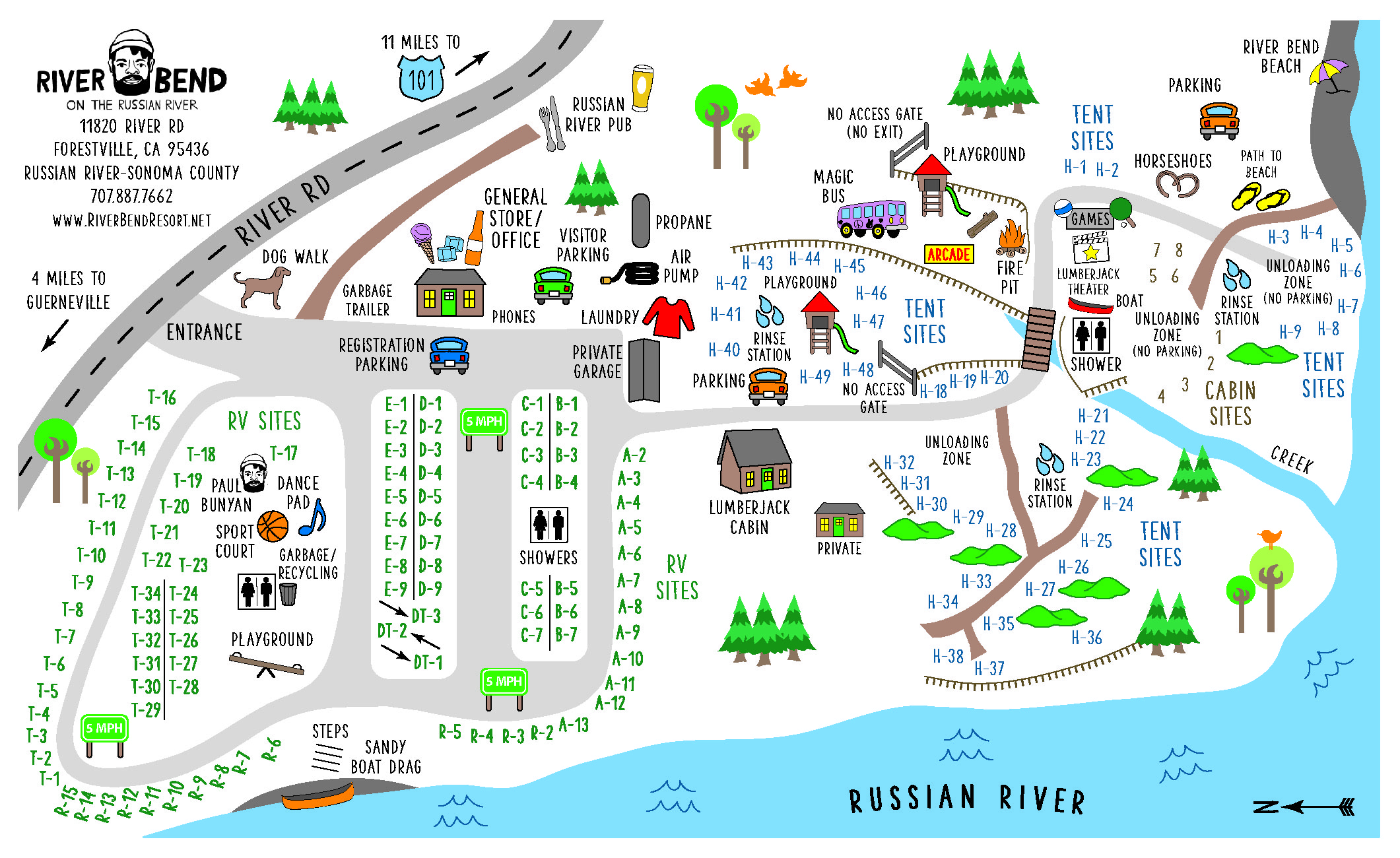 River Bend Resort Map